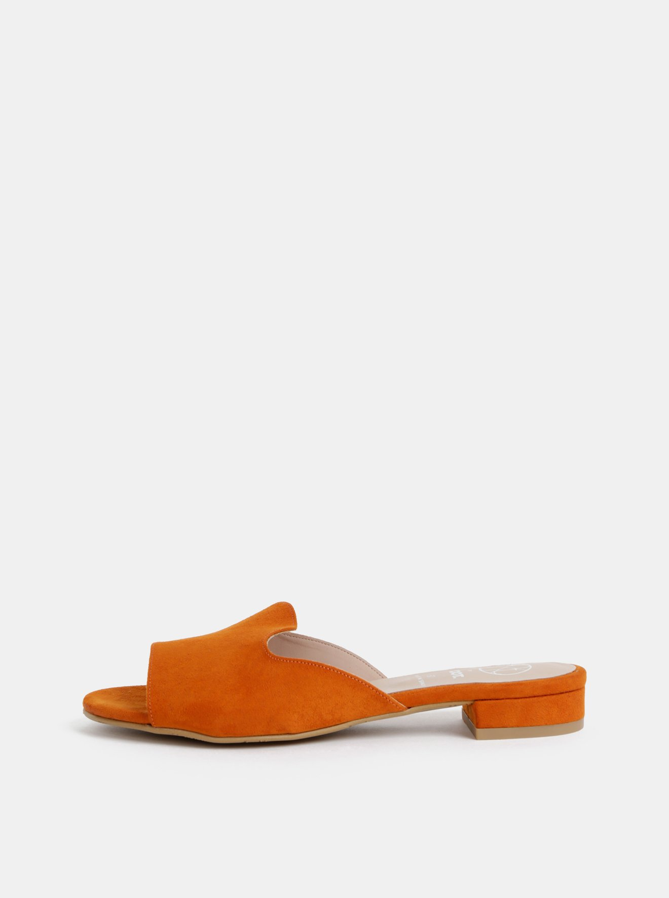 Oranžové pantofle v semišové úpravě OJJU Mariella
