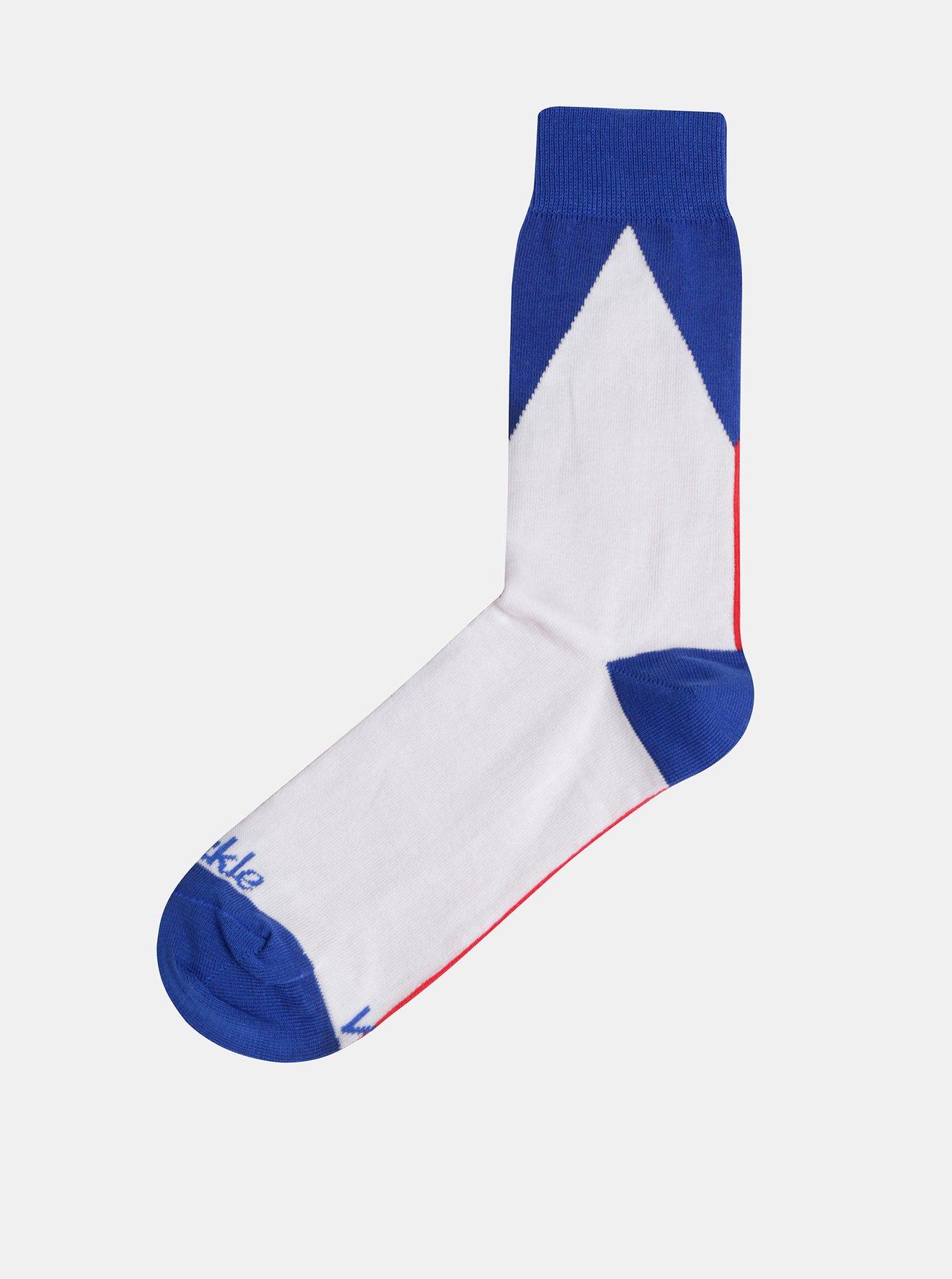 Bílo-modré ponožky Fusakle Vlajka