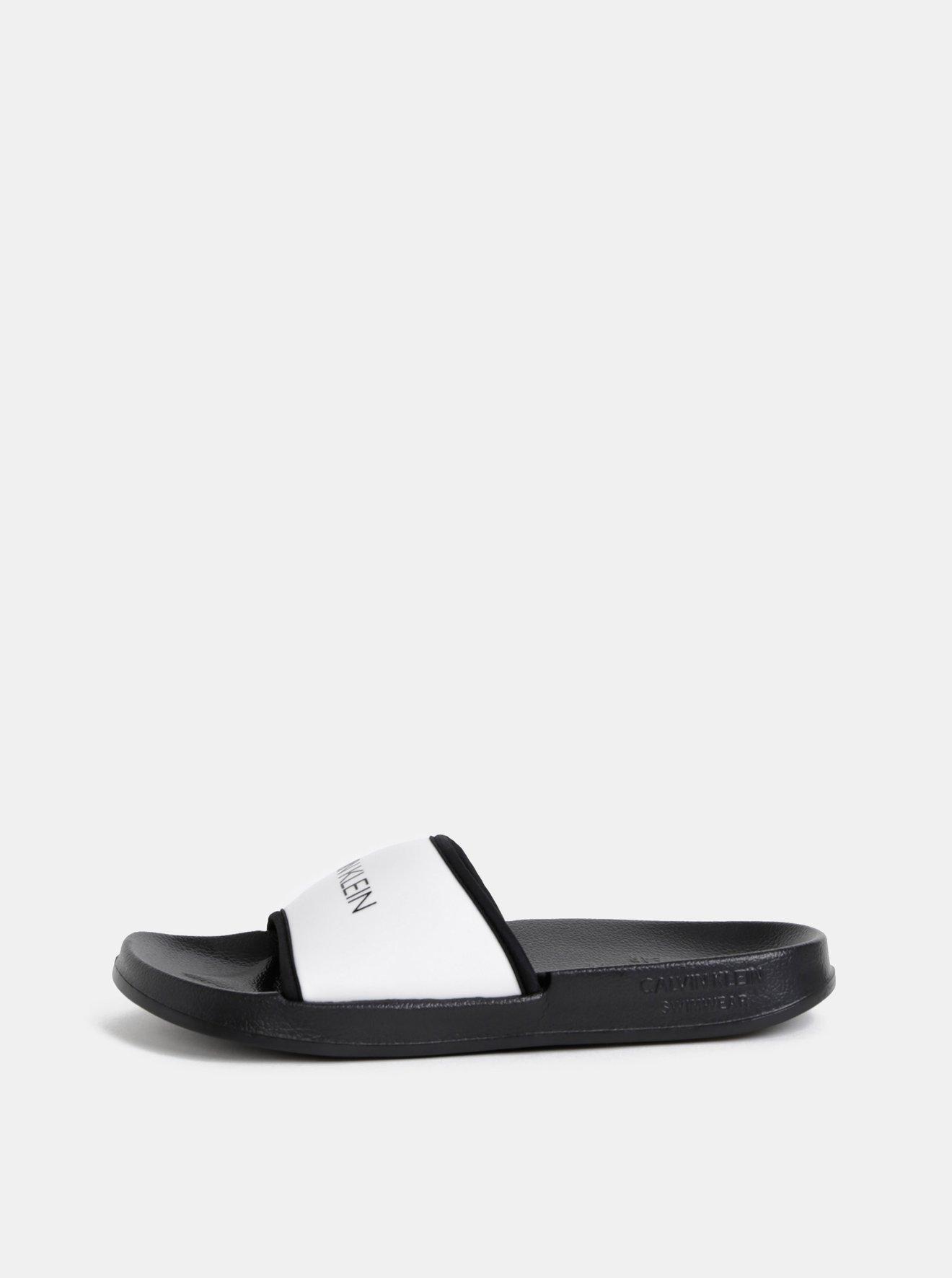 Černo-bílé pantofle Calvin Klein Underwear