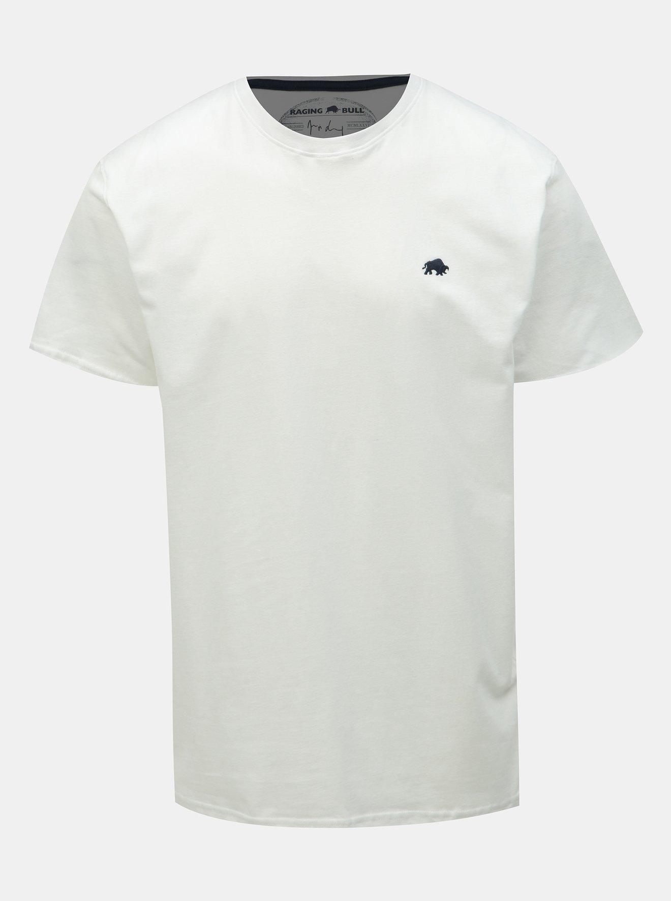 Bílé tričko Raging Bull