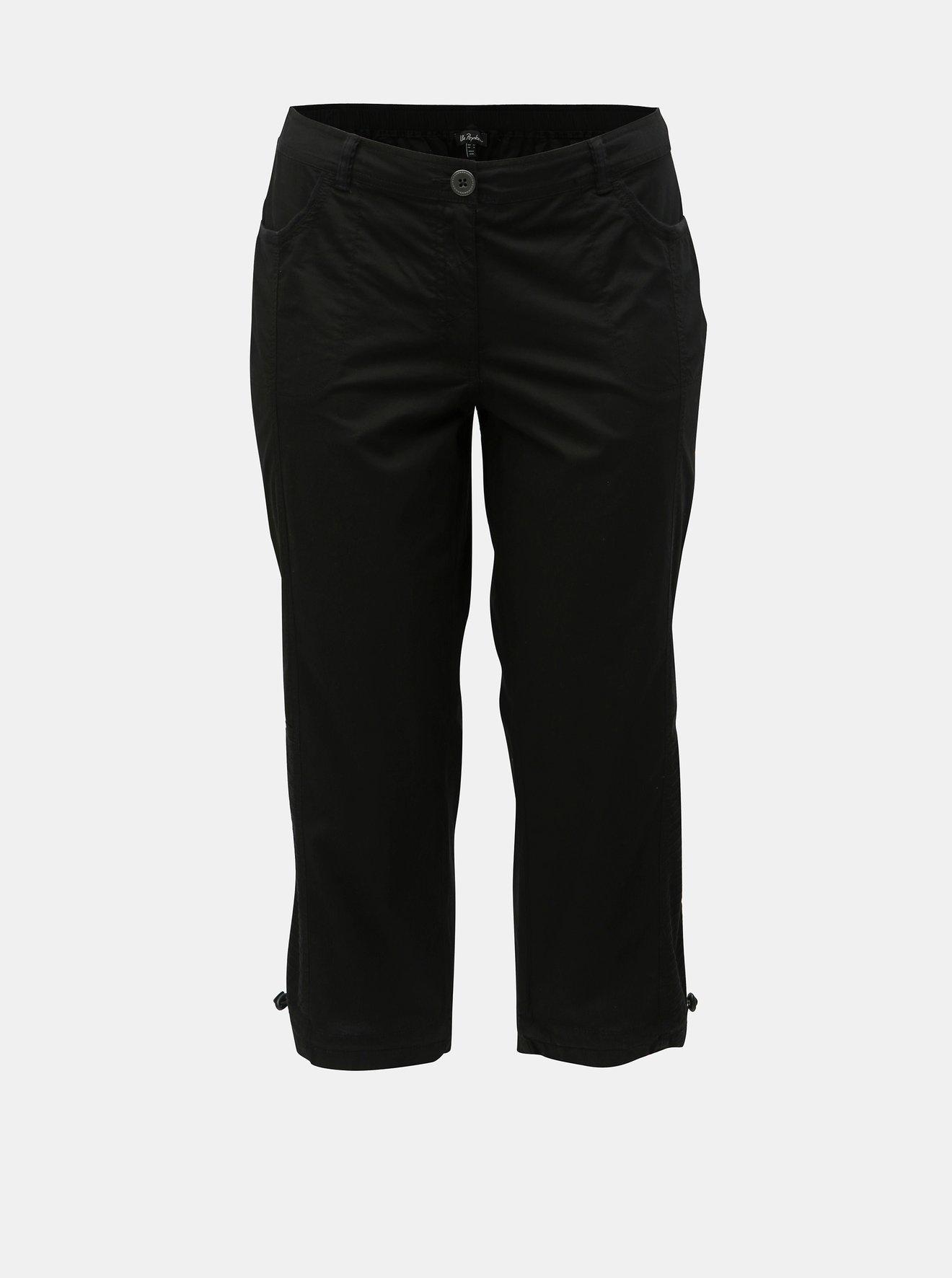 Černé 3/4 kalhoty Ulla Popken