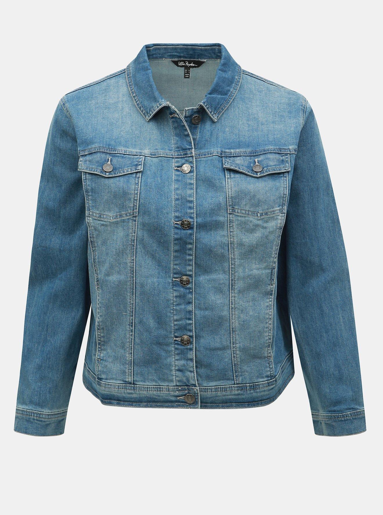 Modrá džínová bunda Ulla Popken