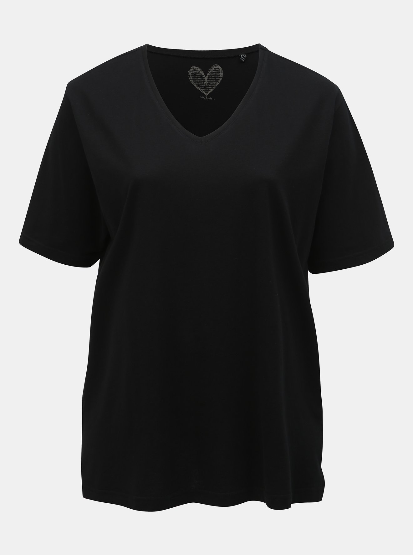 Černé basic tričko Ulla Popken