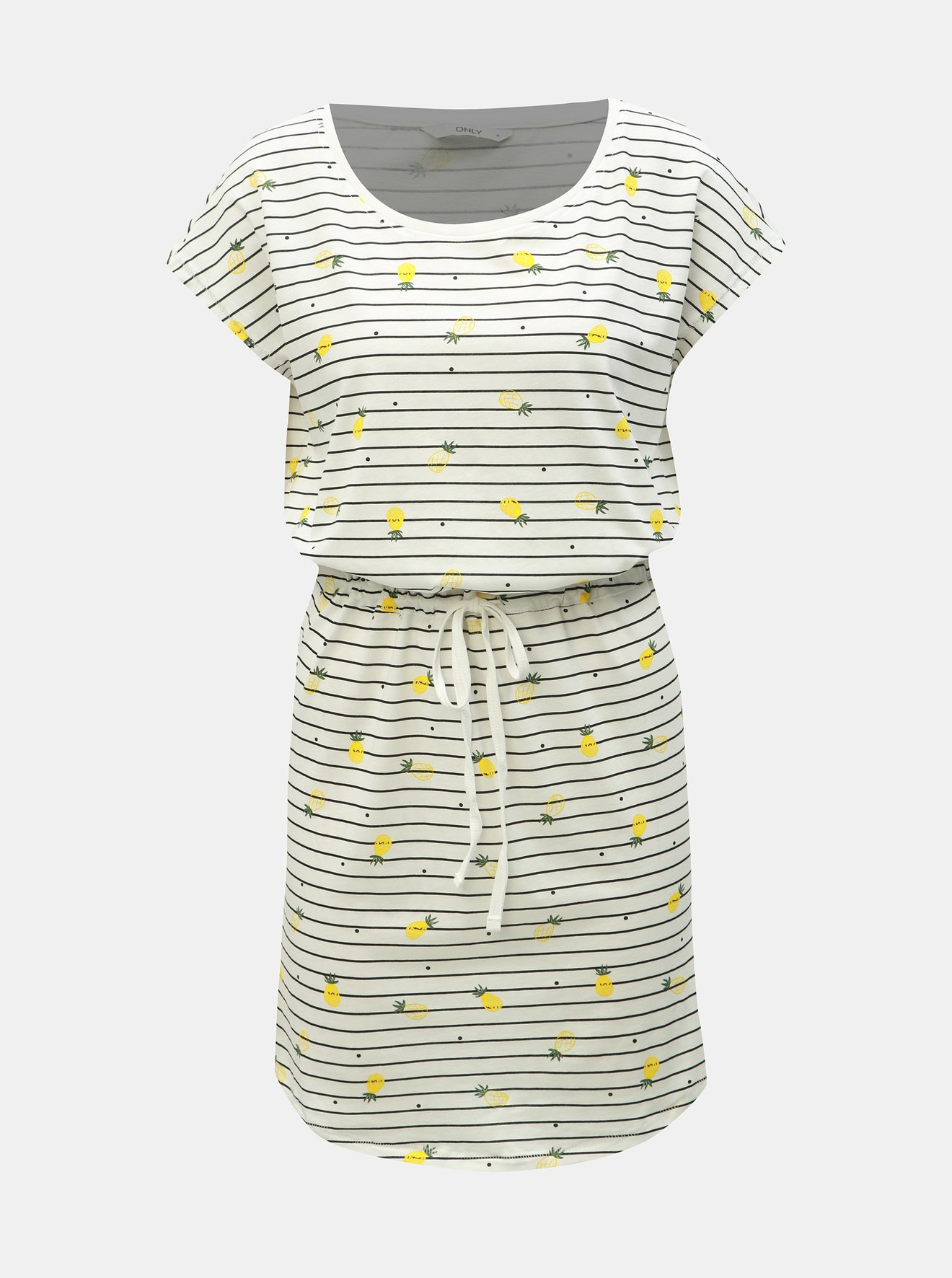 Bílé pruhované šaty s motivem ONLY May