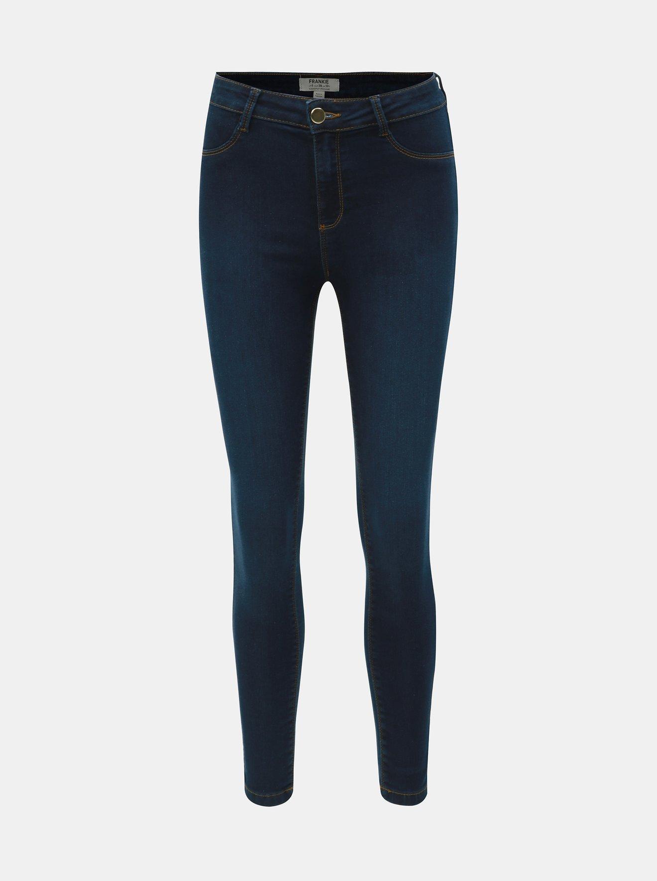 Tmavě modré skinny fit džíny Frankie Dorothy Perkins Frankie