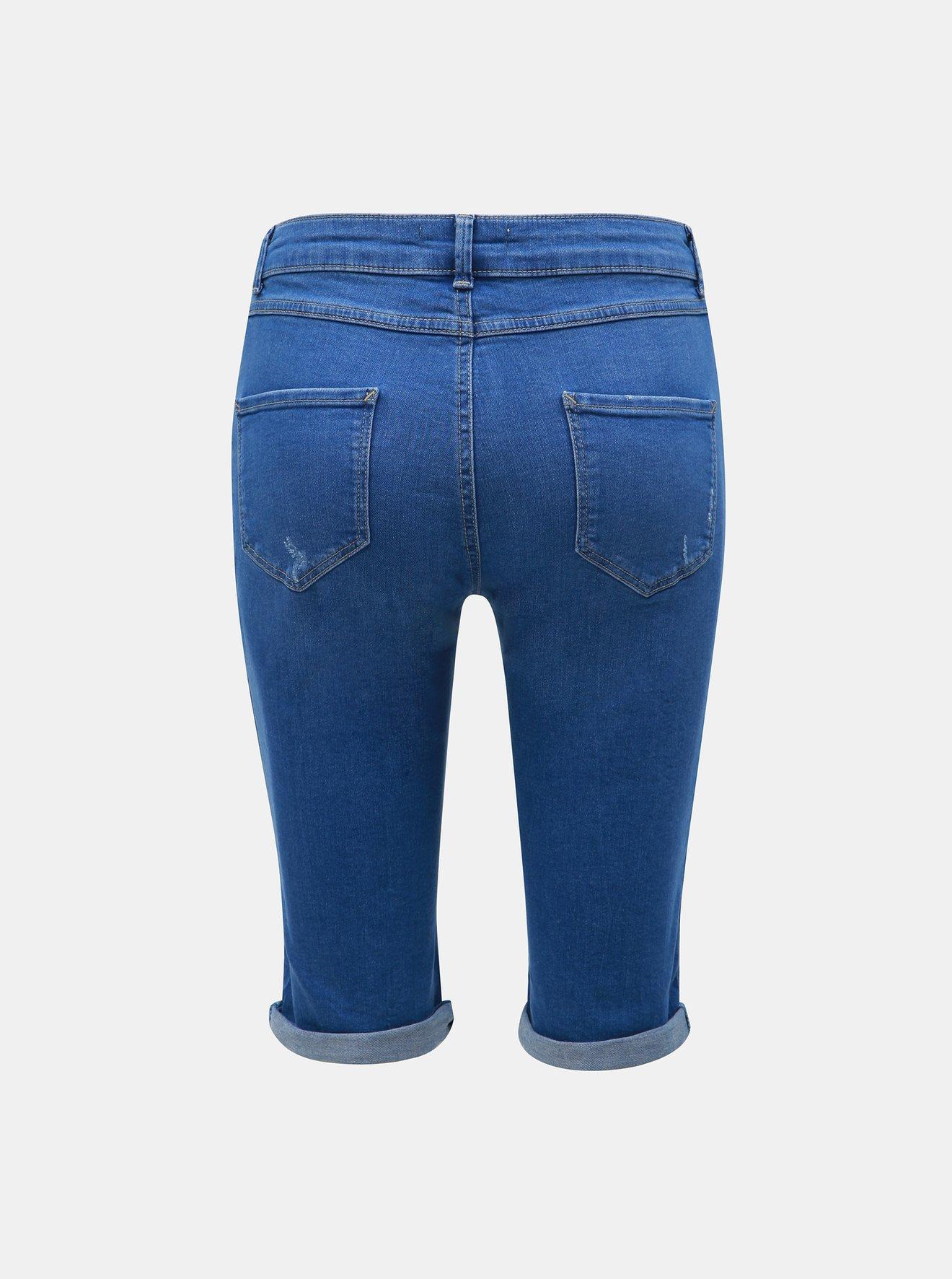Modré džínové kraťasy Dorothy Perkins Tall