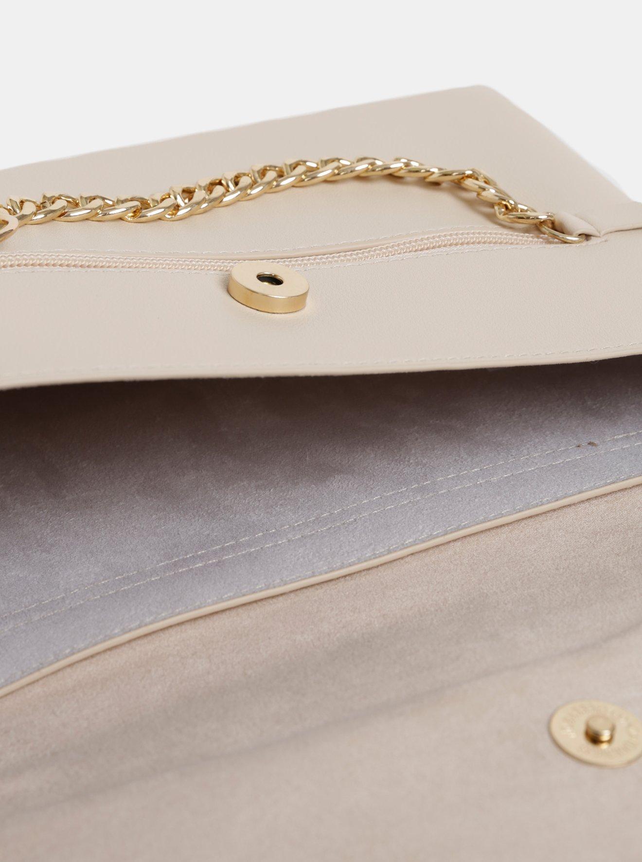 Krémová crossbody kabelka s detailem v semišové úpravě Dorothy Perkins