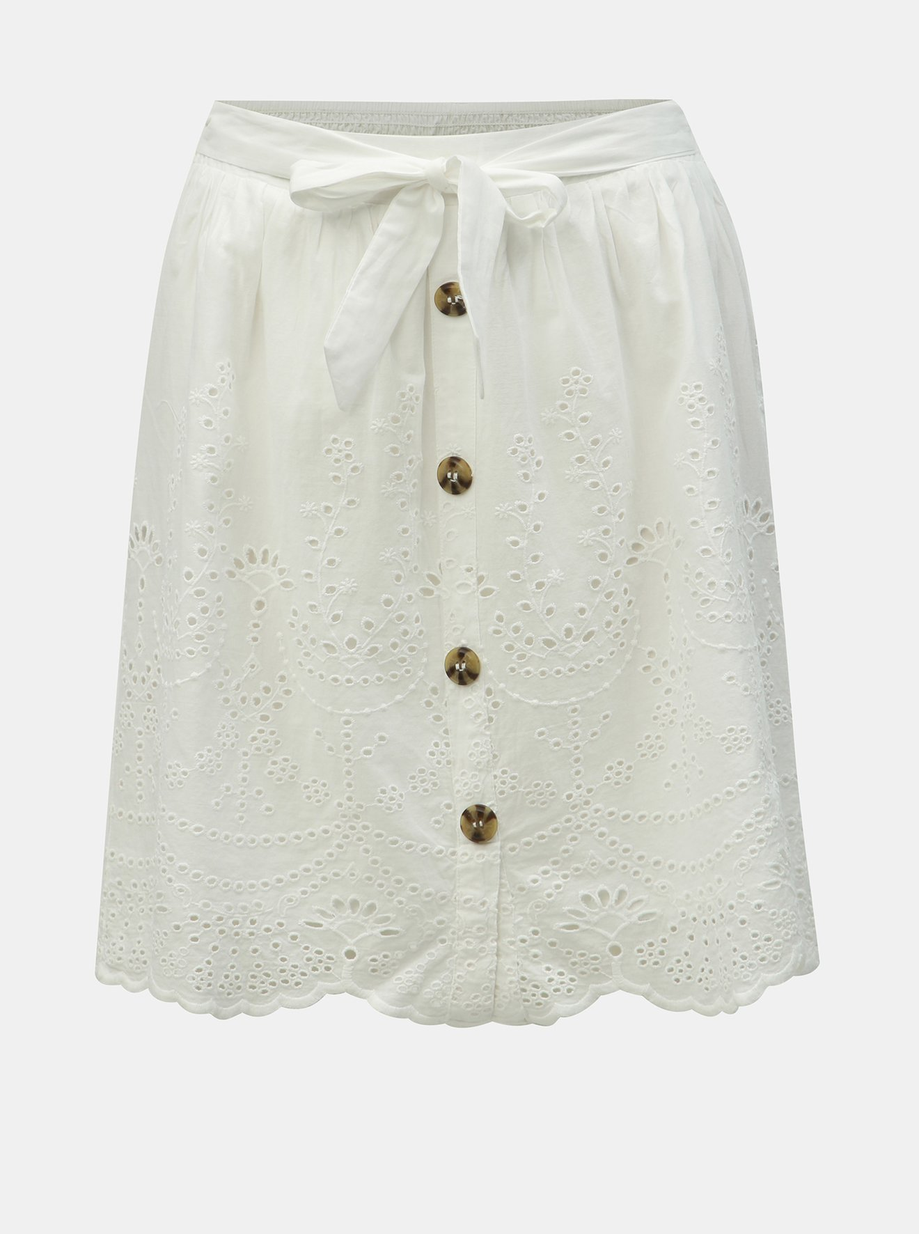 Bílá sukně s madeirou Dorothy Perkins