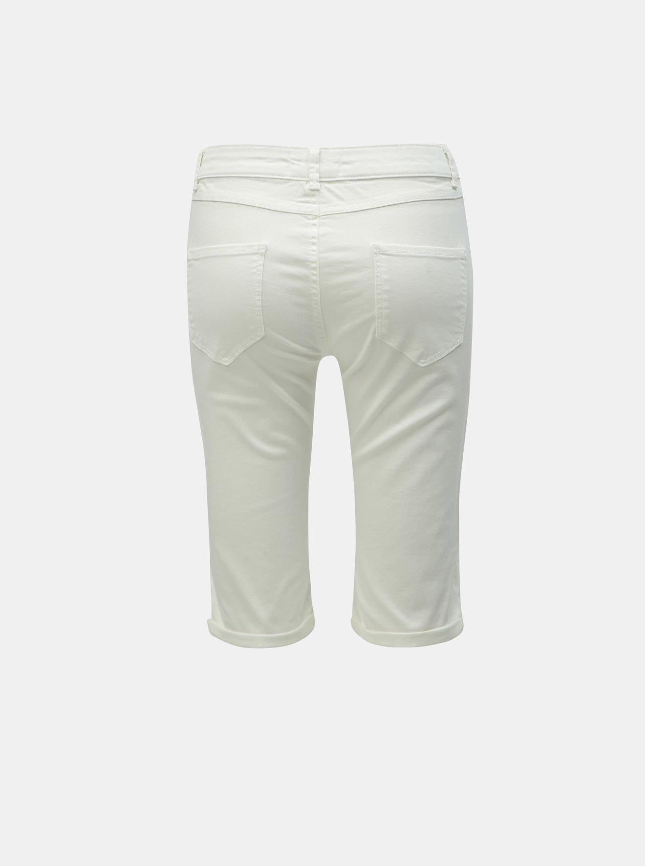 Bílé džínové kraťasy Dorothy Perkins Tall