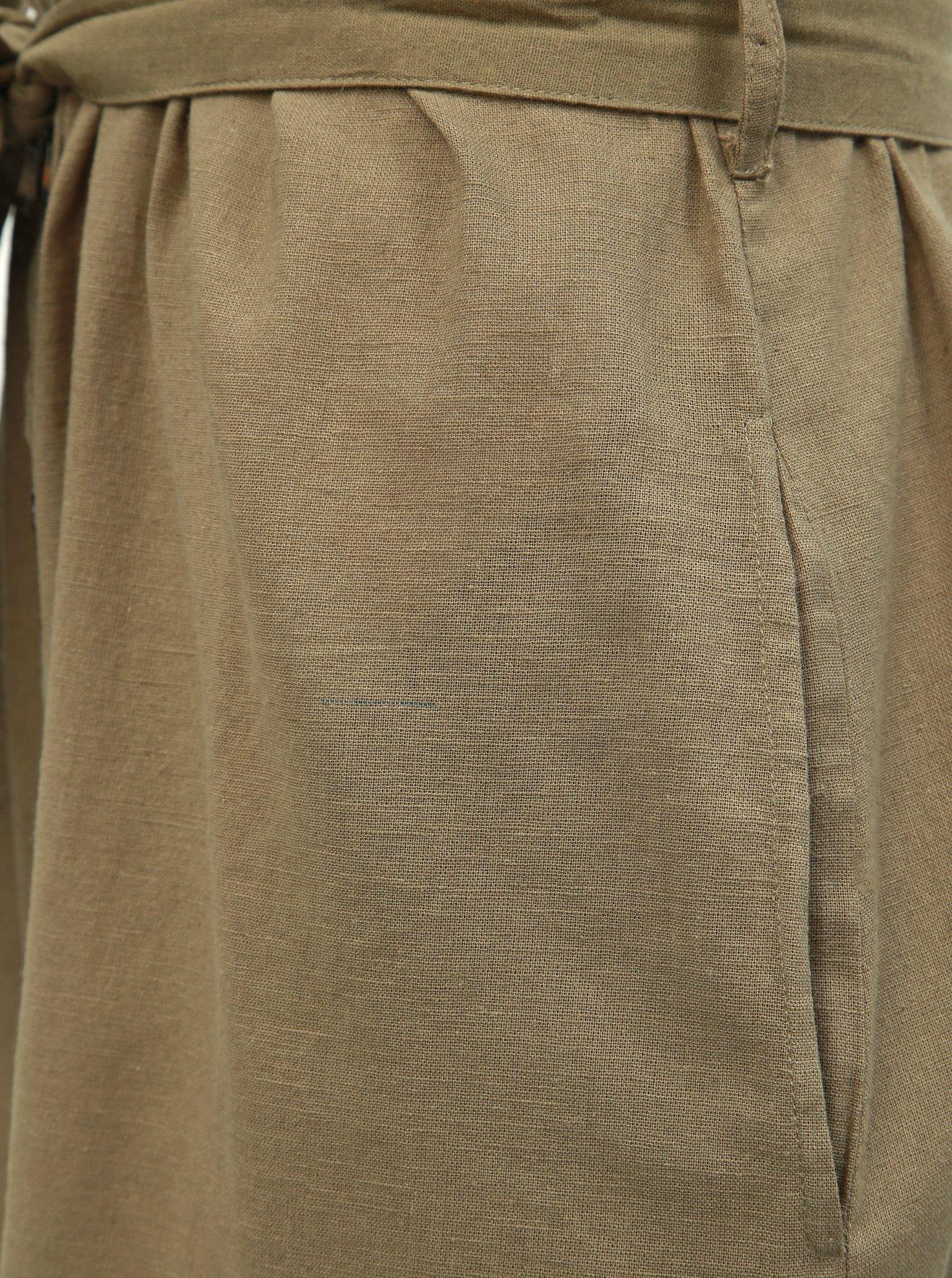 Khaki košilové šaty Dorothy Perkins Tall