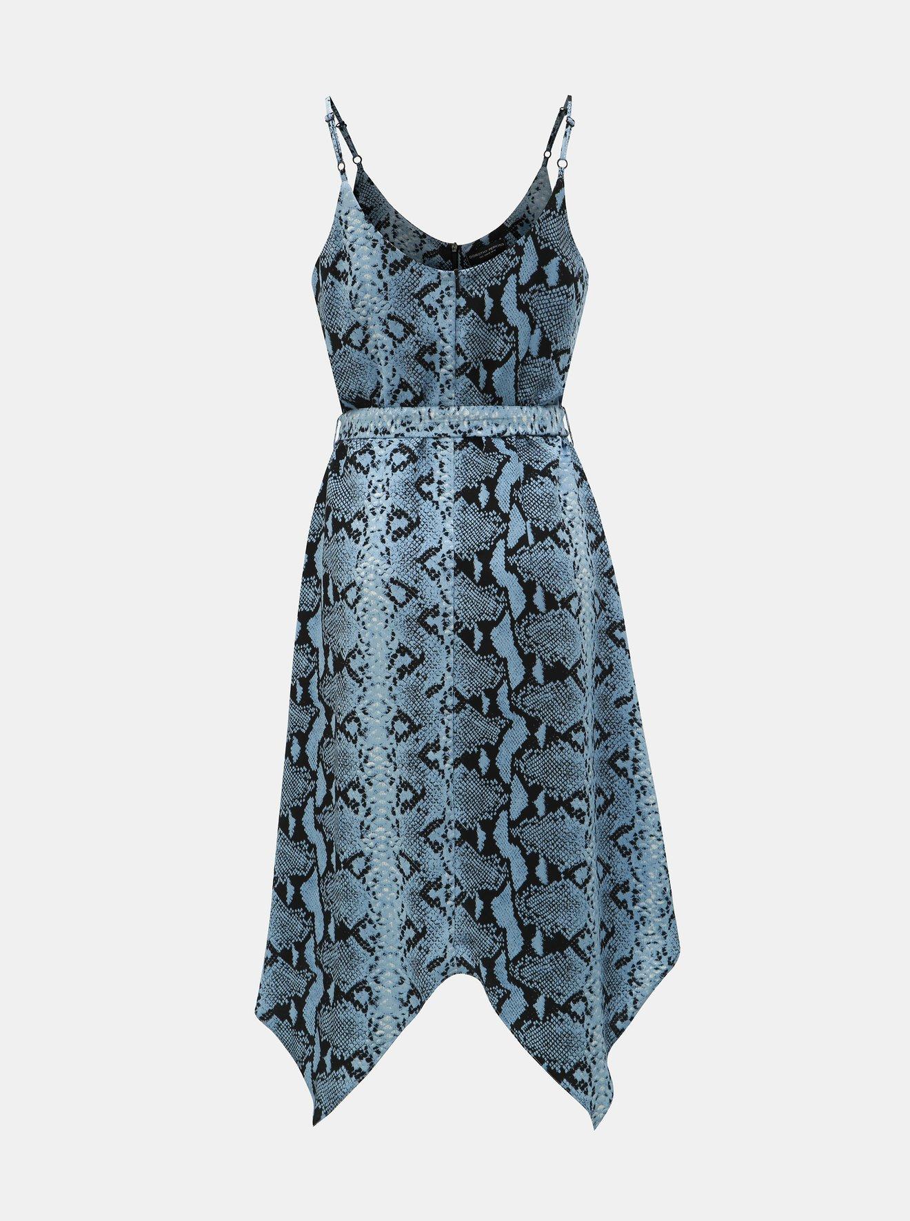 Černo-modré šaty s hadím vzorem Dorothy Perkins