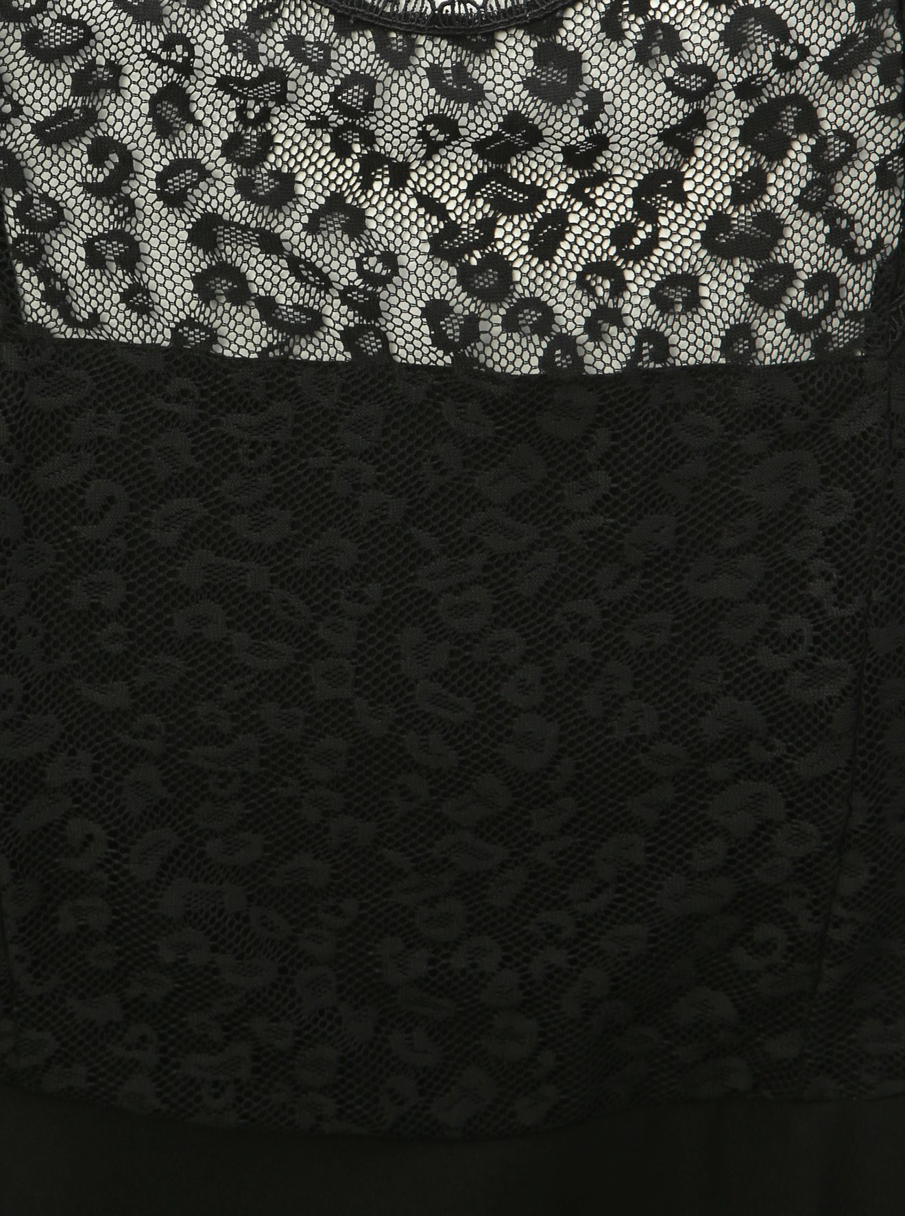 Černé šaty s krajkou a leopardím vzorem Dorothy Perkins