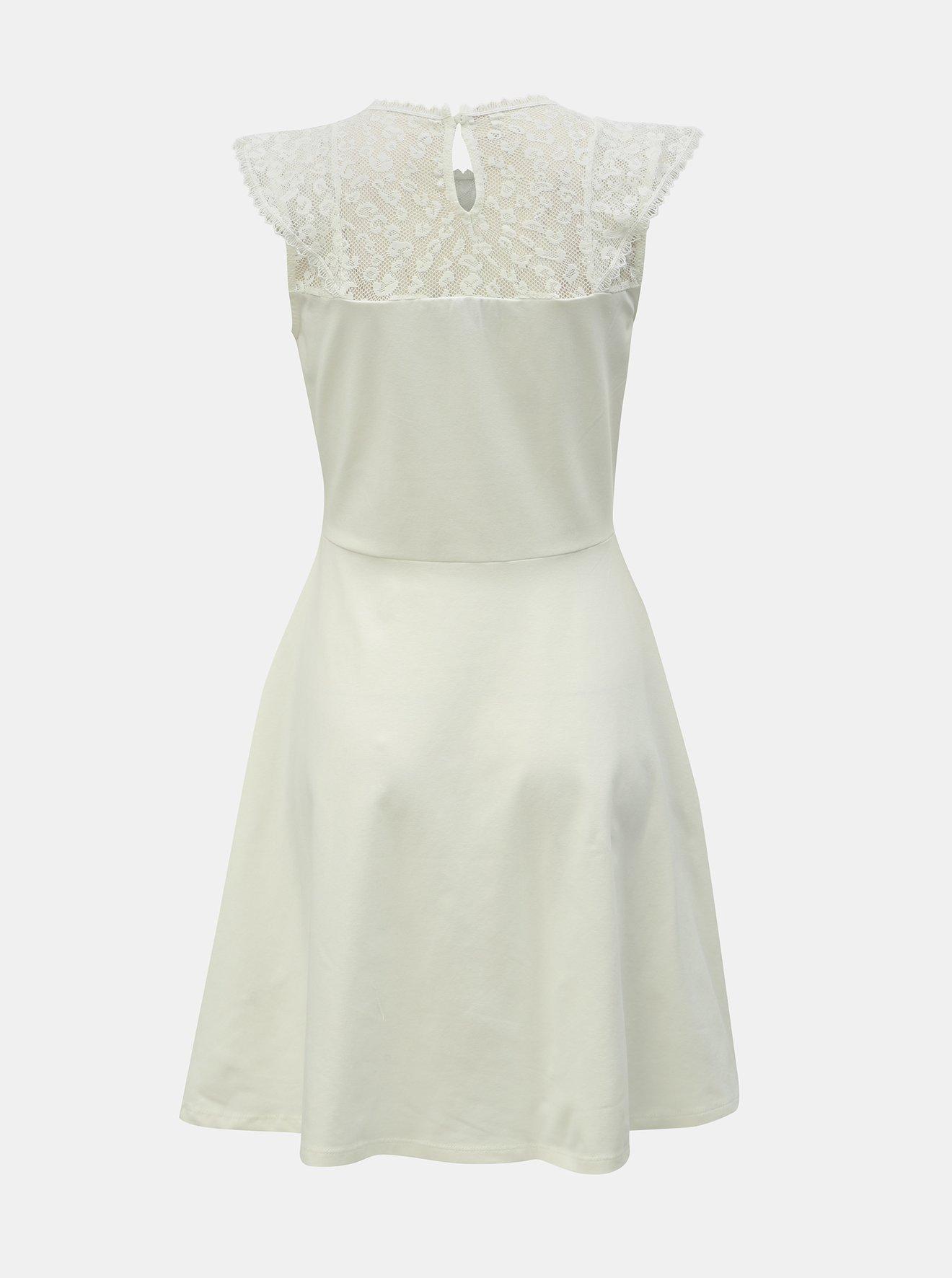 Bílé šaty s krajkou a leopardím vzorem Dorothy Perkins