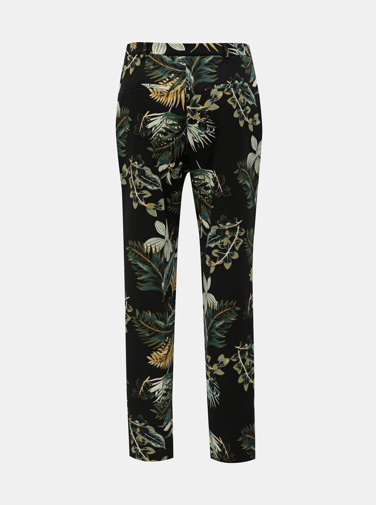 Černé květované kalhoty Dorothy Perkins Tall