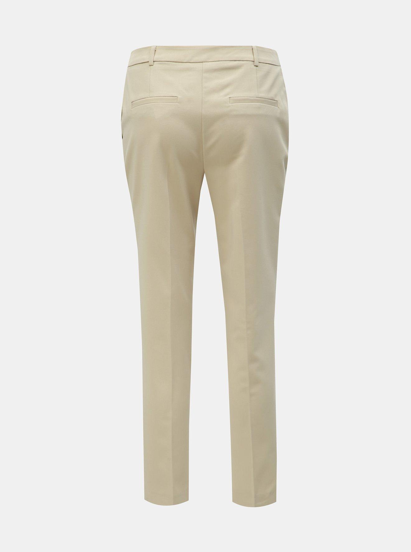 Krémové kalhoty Dorothy Perkins Tall