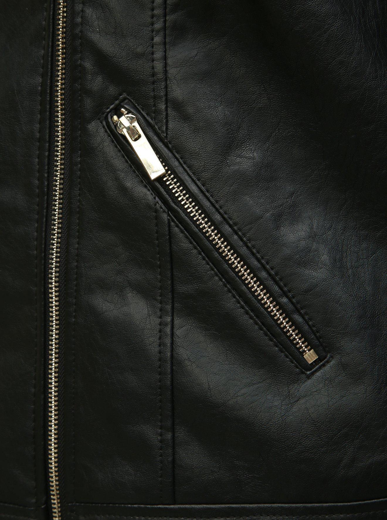 Černý koženkový křivák Dorothy Perkins Curve