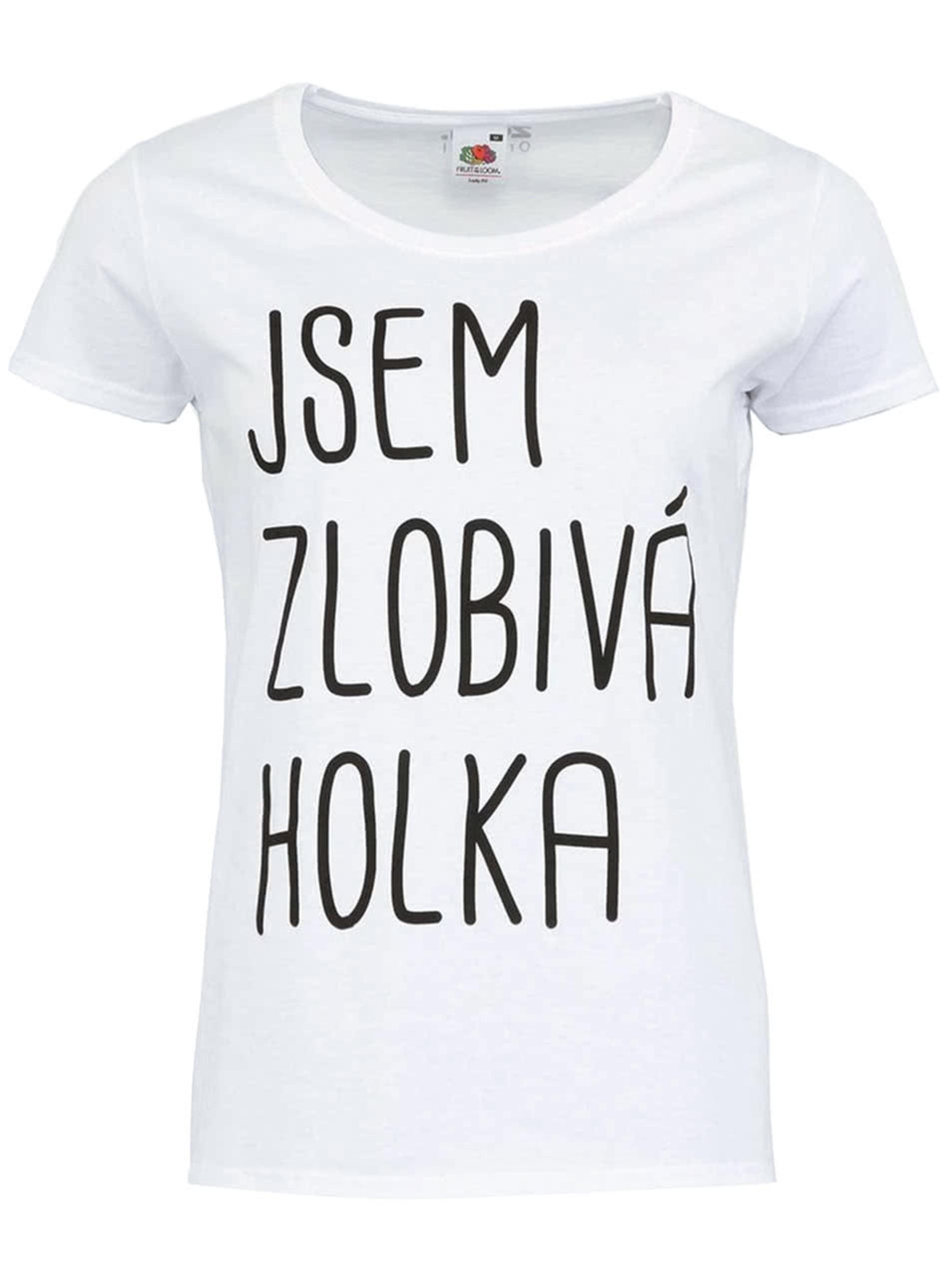 Fotografie Bílé dámské tričko ZOOT Originál Jsem zlobivá holka