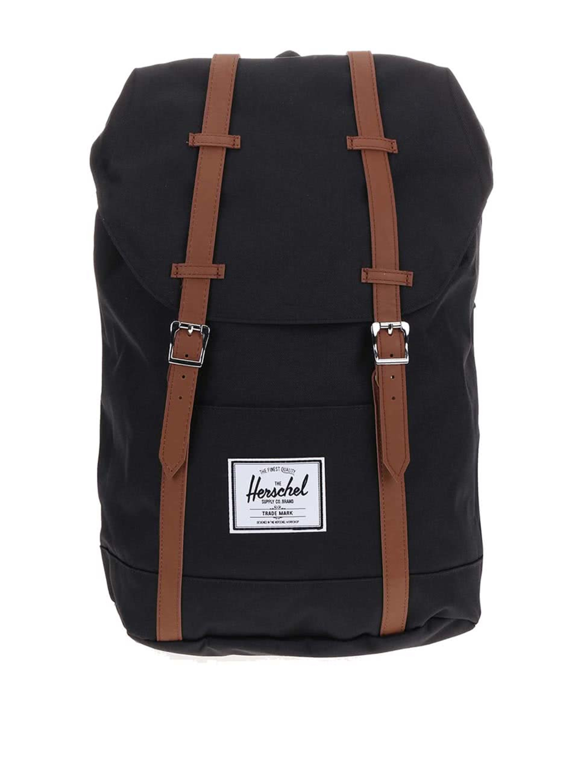 Čierny batoh s prackami Herschel Supply Retreat 19,5 l