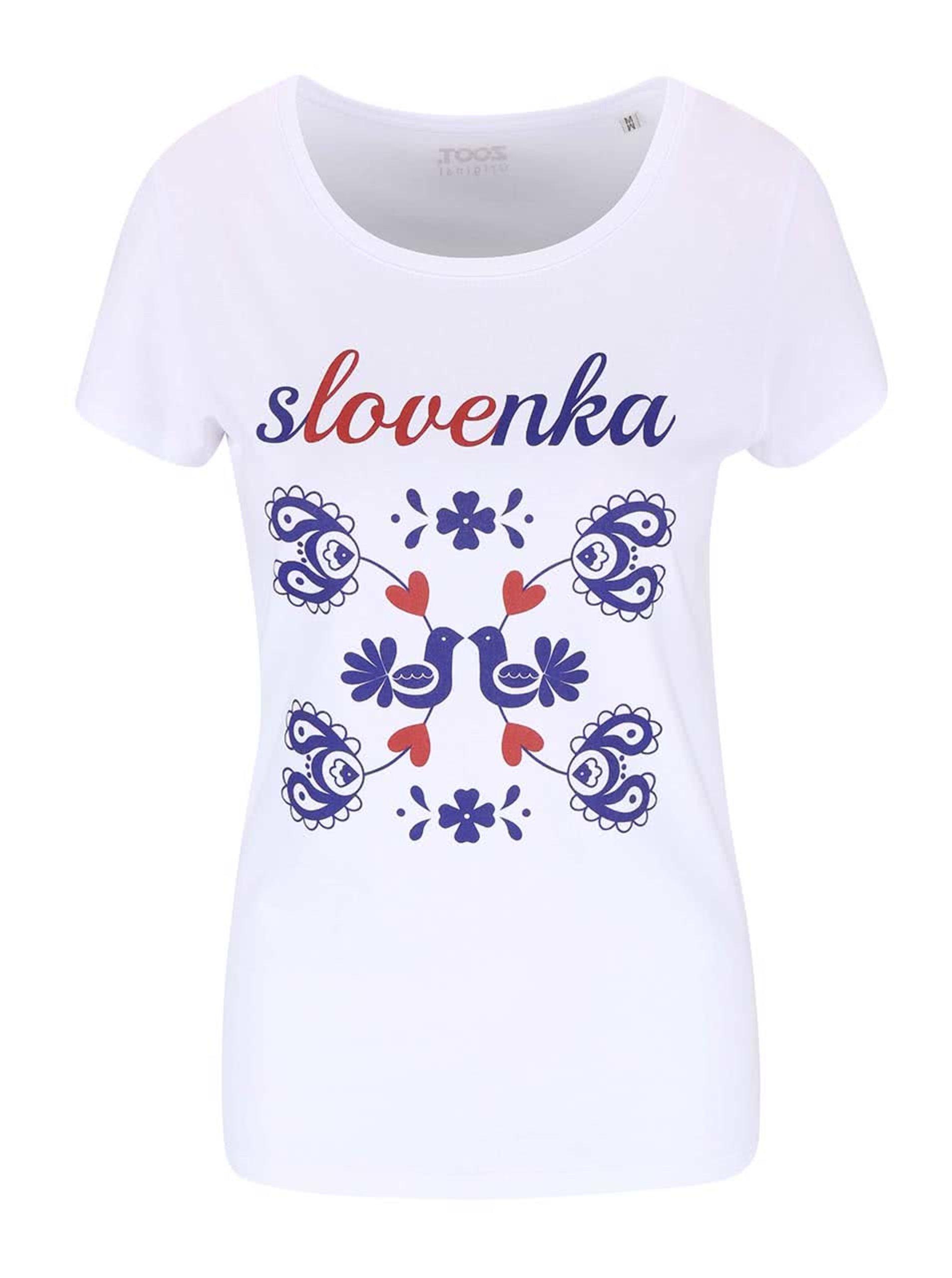 Fotografie Bílé dámské tričko ZOOT Originál Slovenka