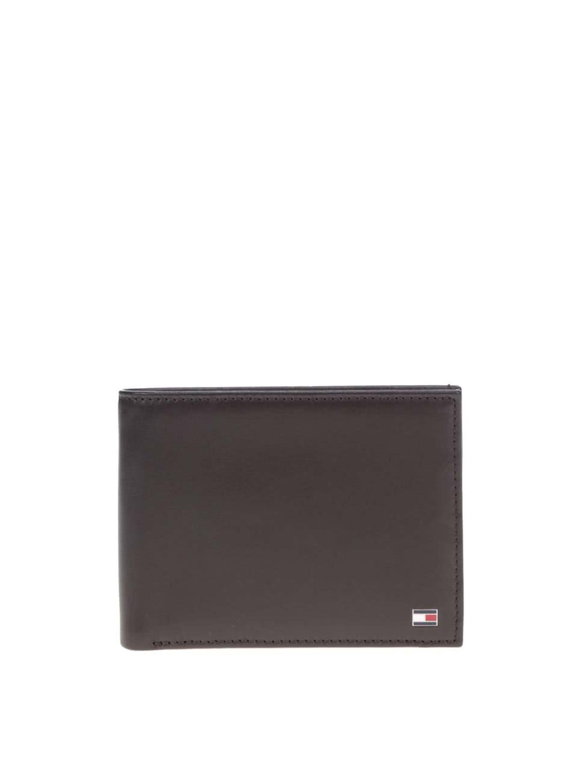 Hnedá pánska kožená peňaženka Tommy Hilfiger