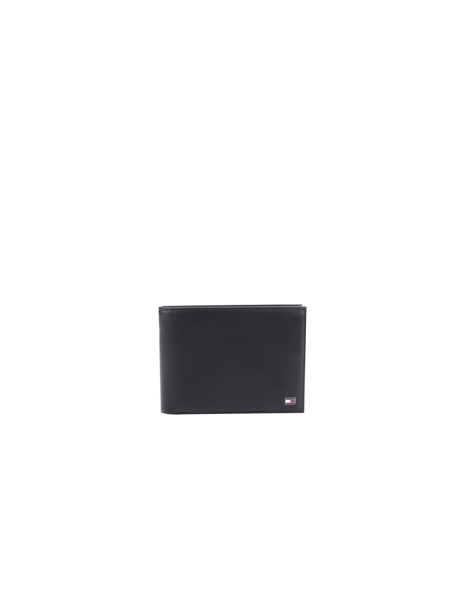 Čierna pánska kožená peňaženka Tommy Hilfiger