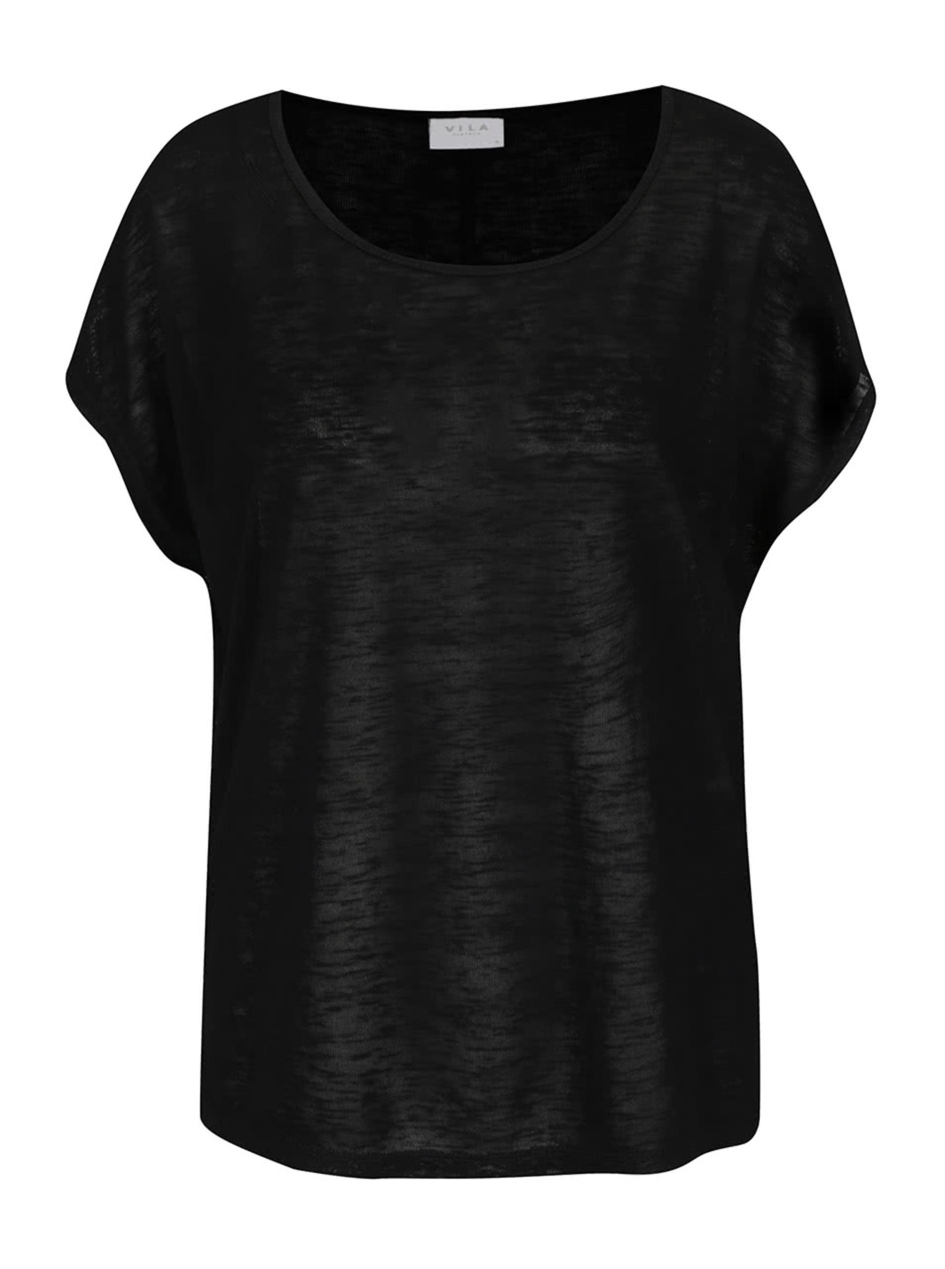 Černý volné basic tričko VILA Sumi