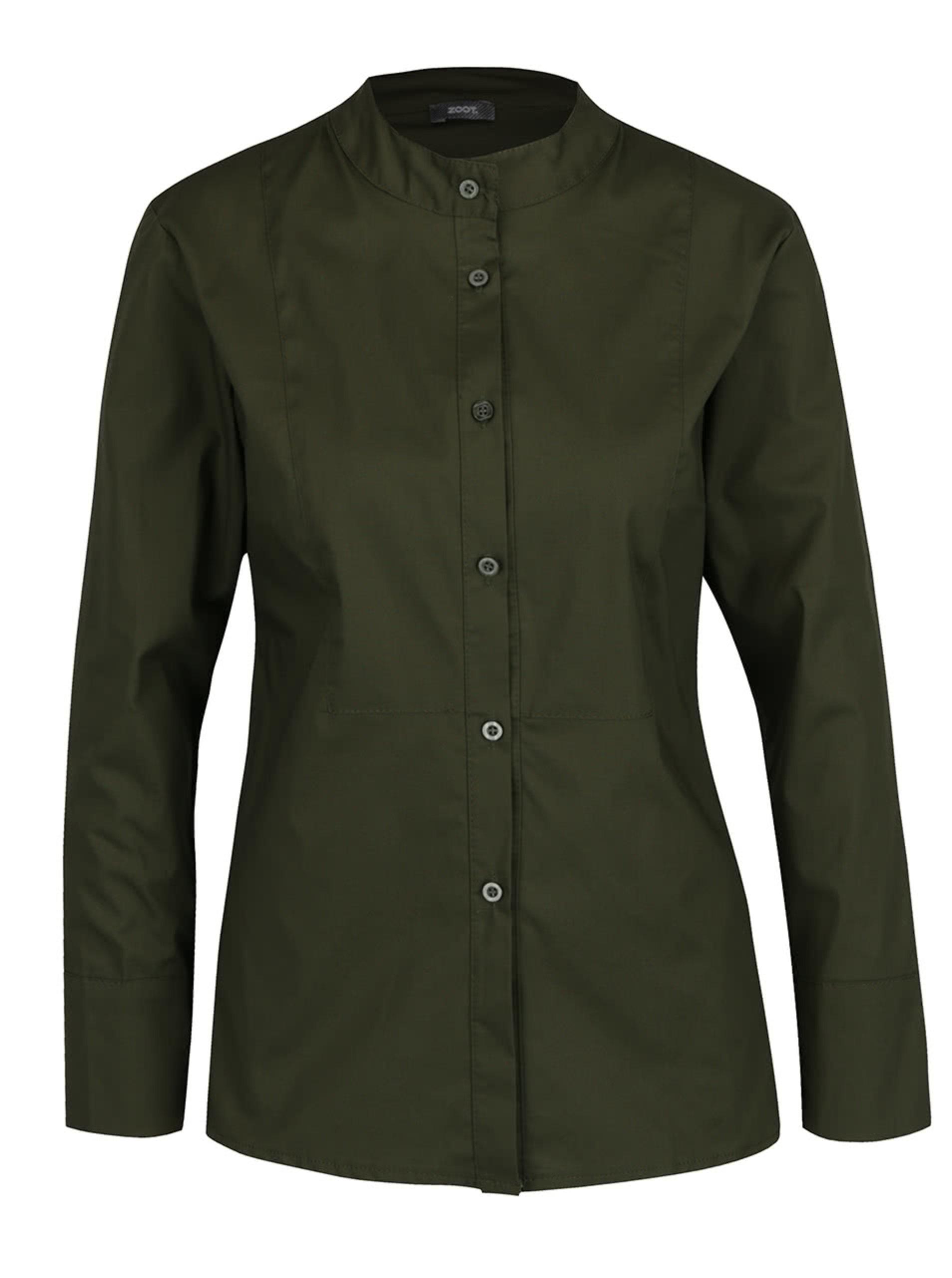 e02f550df664 Tmavě zelená košile bez límečku ZOOT