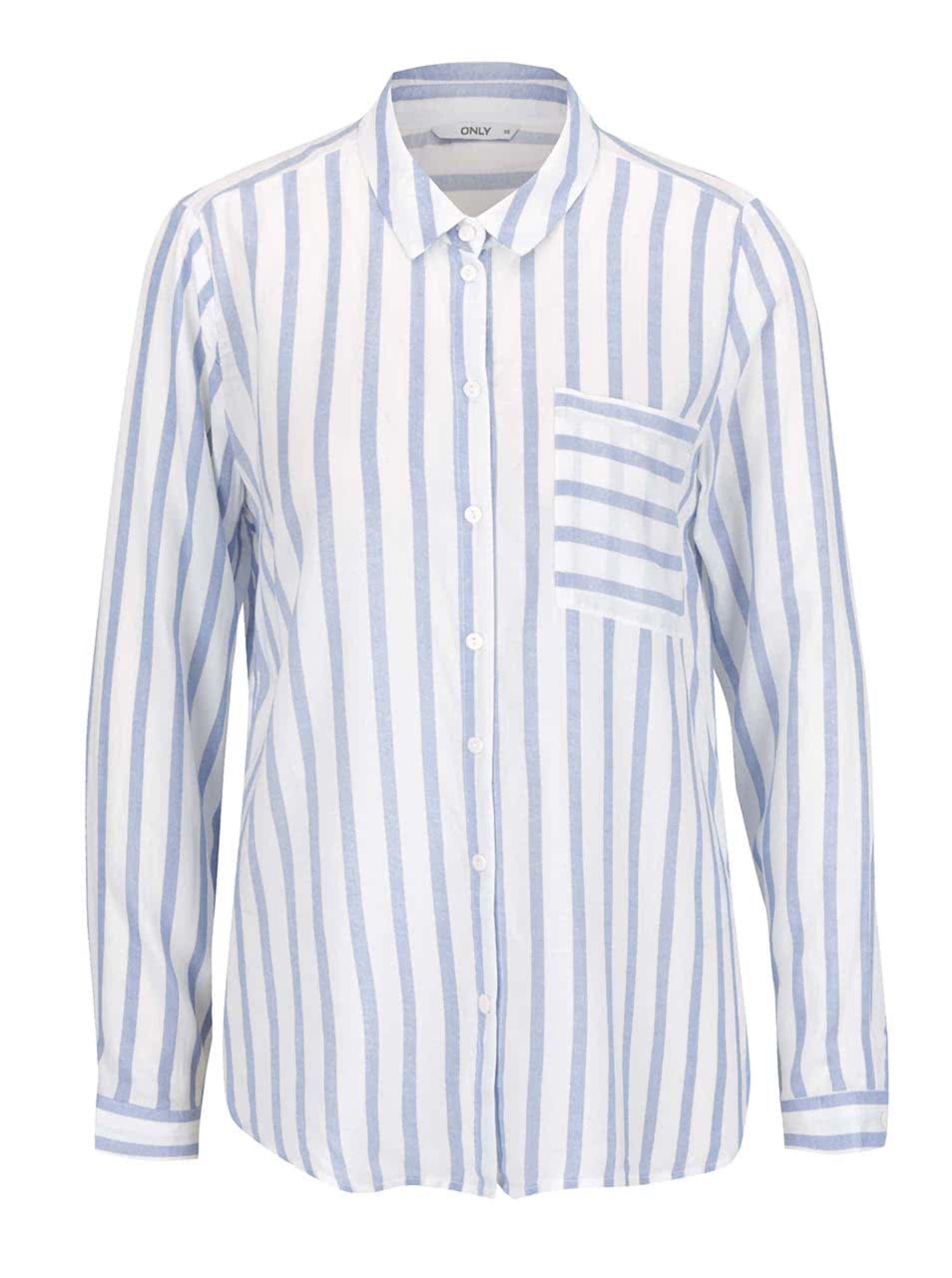 Modro-krémová pruhovaná košeľa ONLY Candy