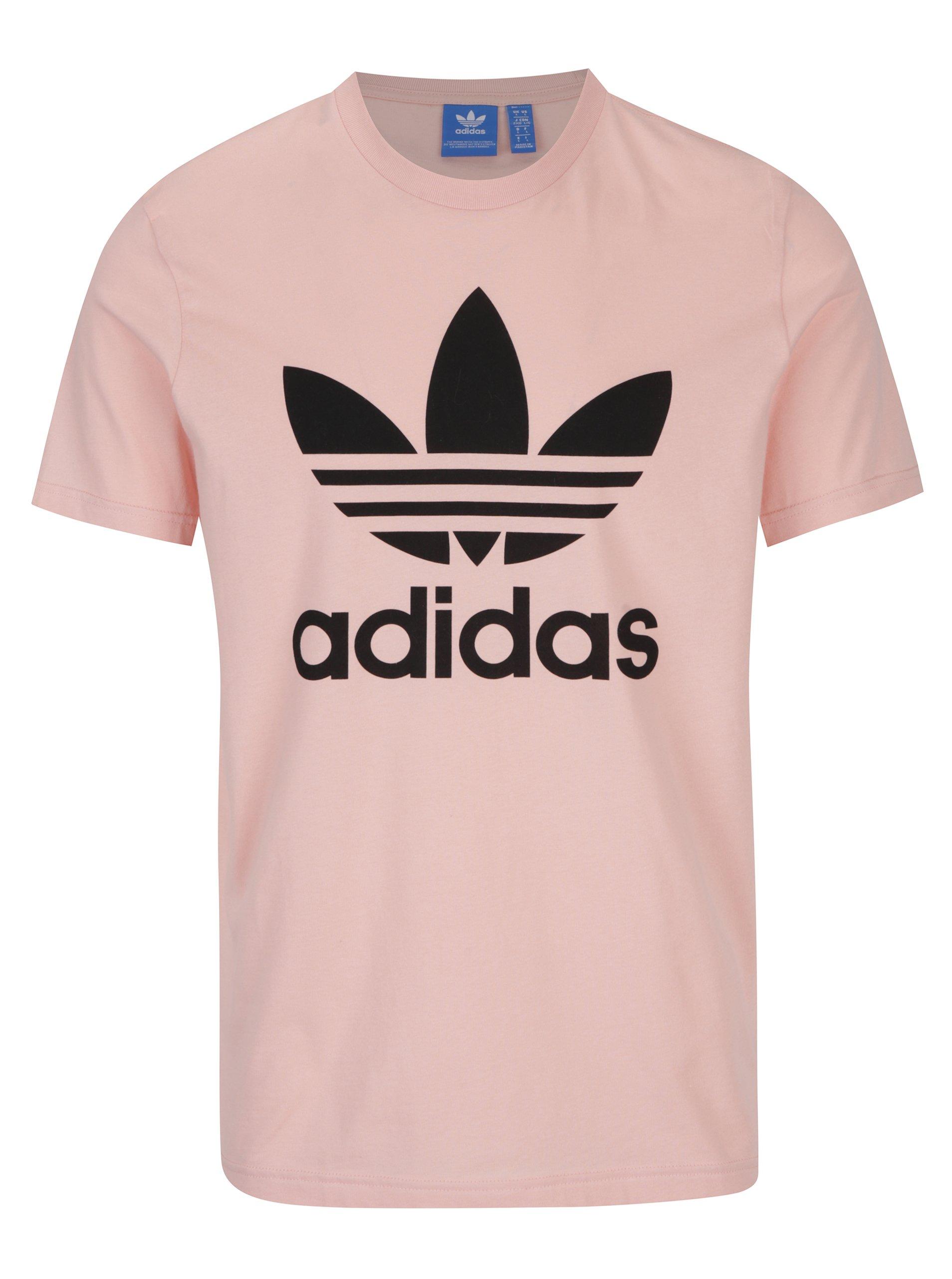 Růžové pánské tričko adidas Originals