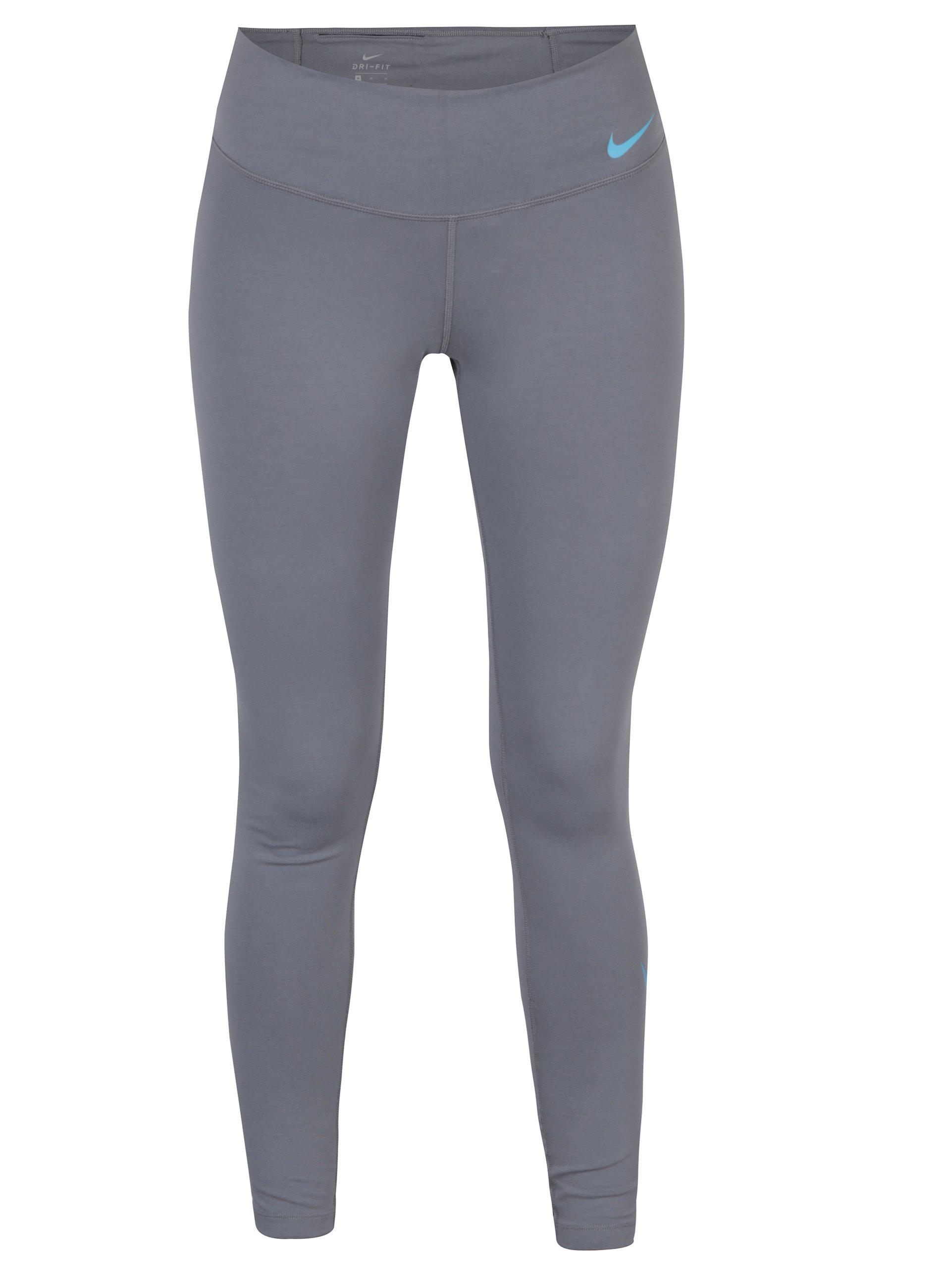 Světle šedé dámské funkční legíny Nike