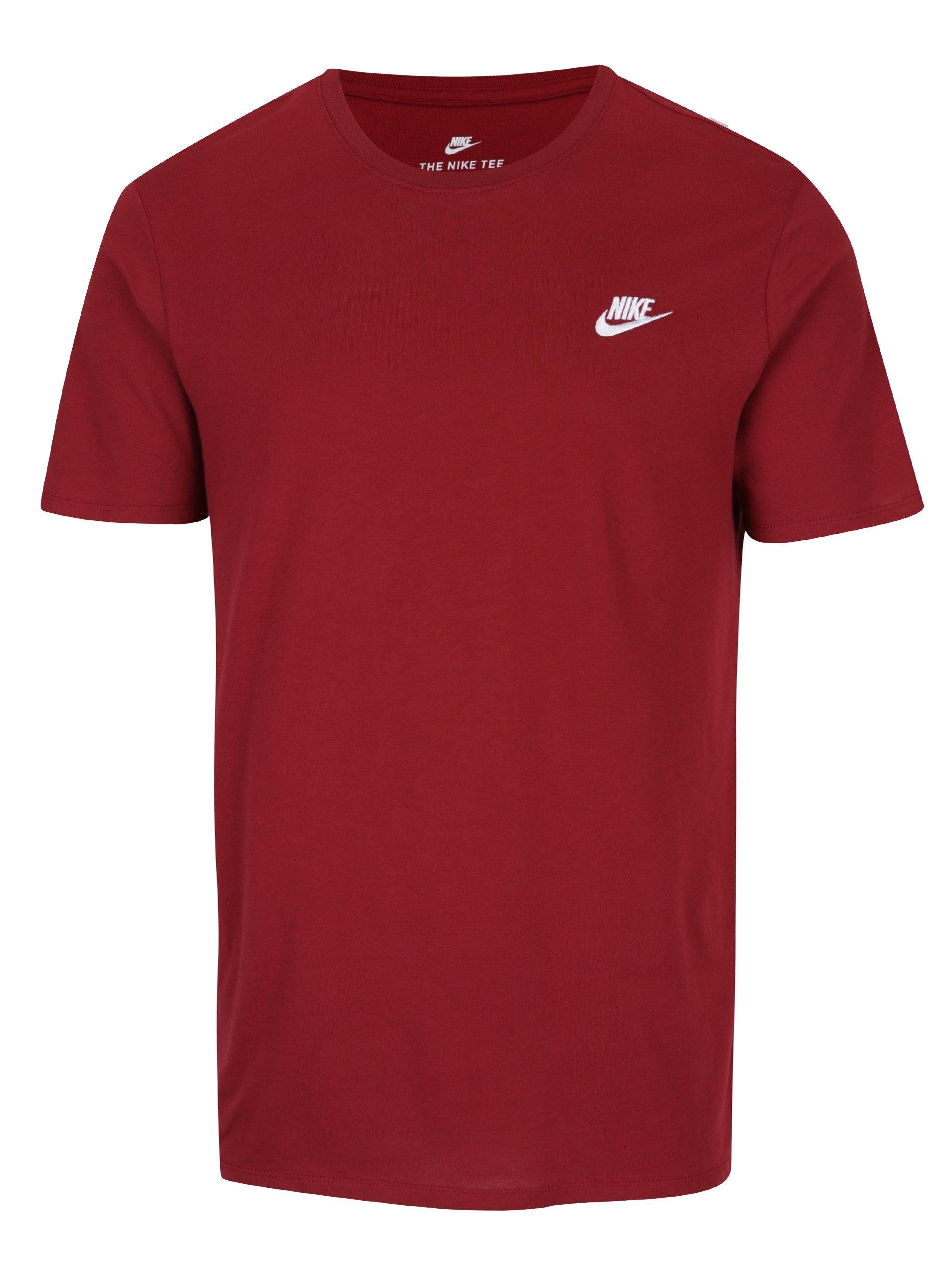 Vínové pánské tričko s nášivkou Nike