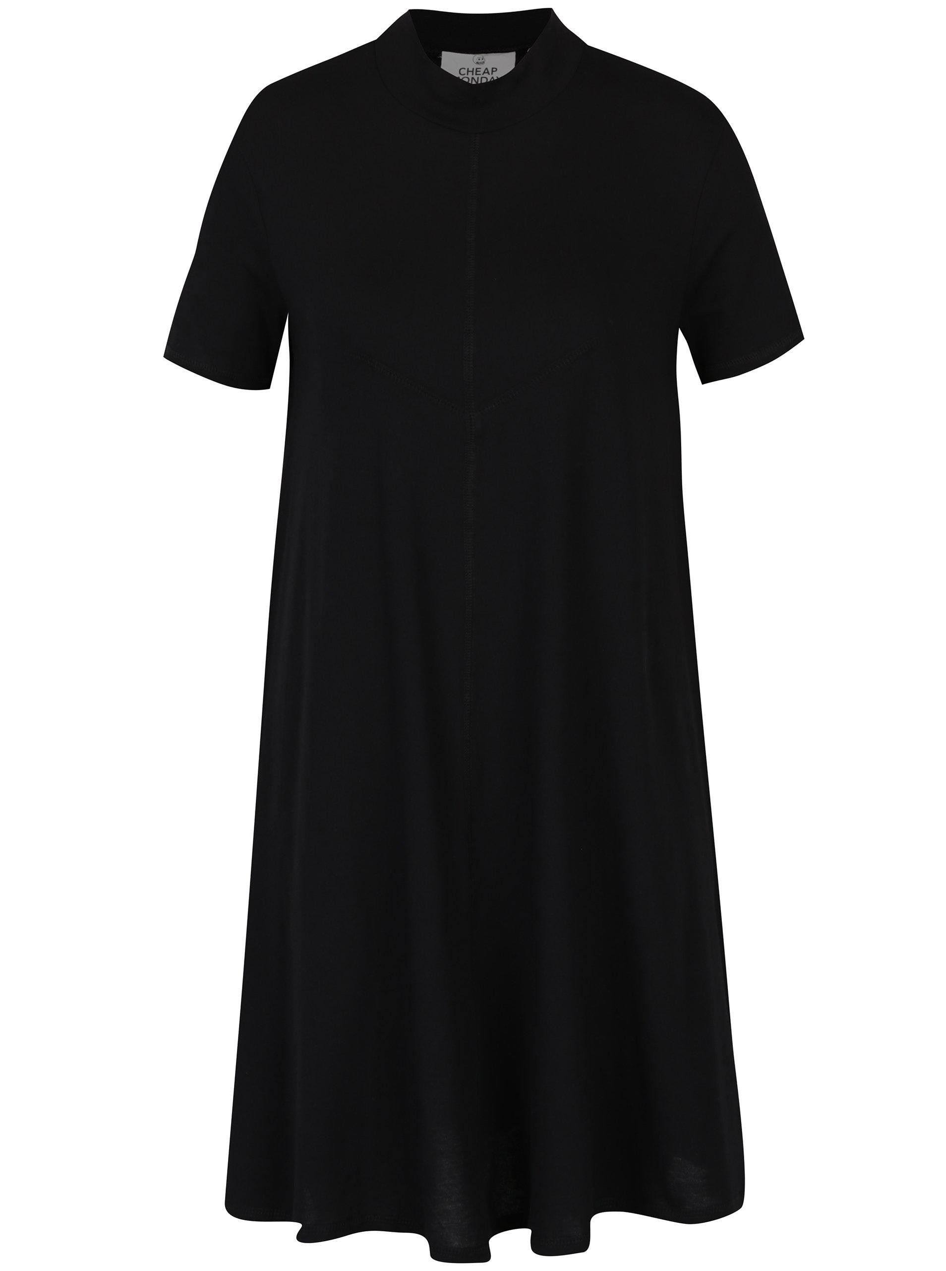 Černé volné šaty s krátkým rukávem Cheap Monday Jagged