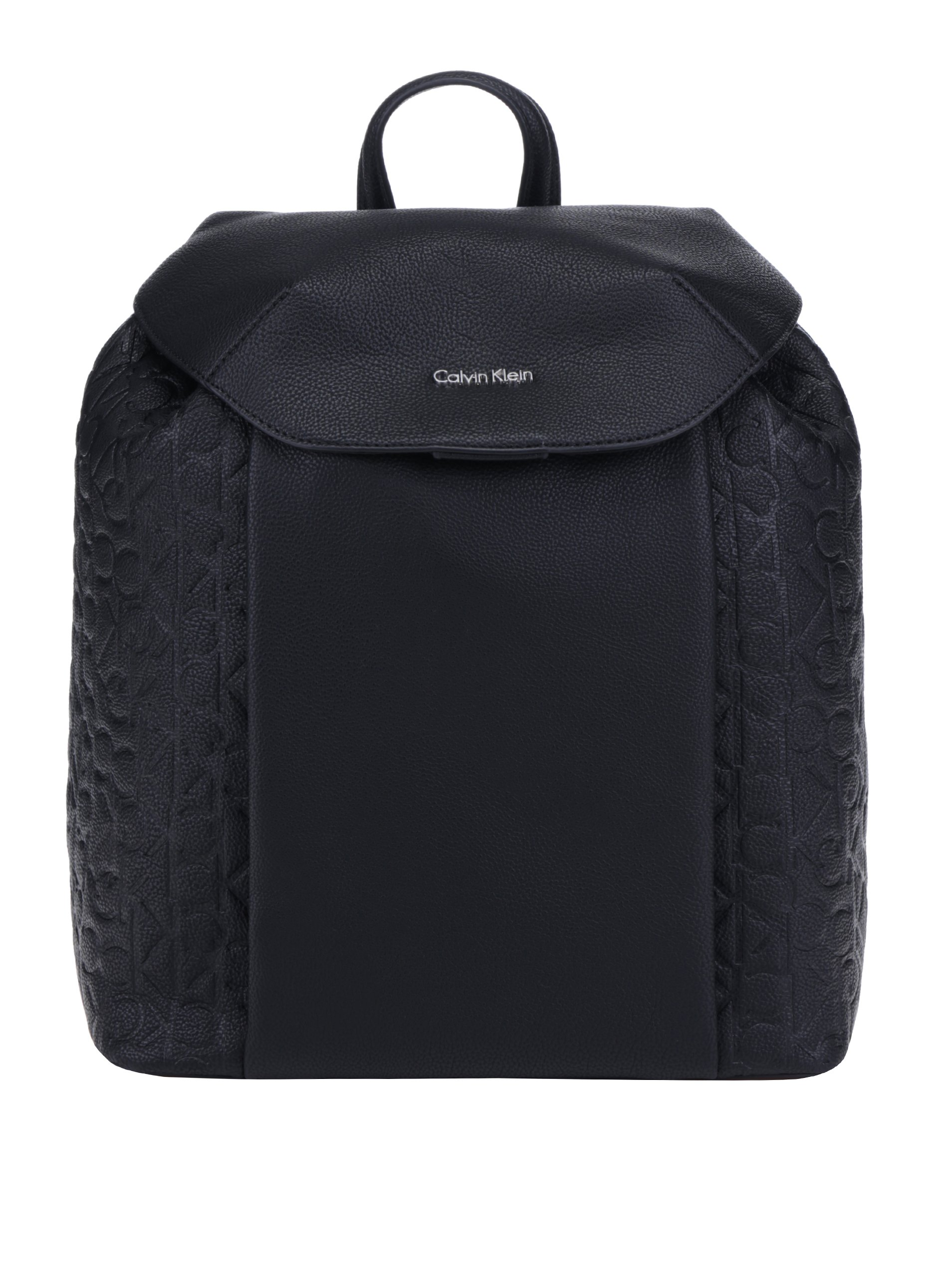 Černý dámský batoh se strukturovanými detaily Calvin Klein Jeans Misha 040cd0b2bc