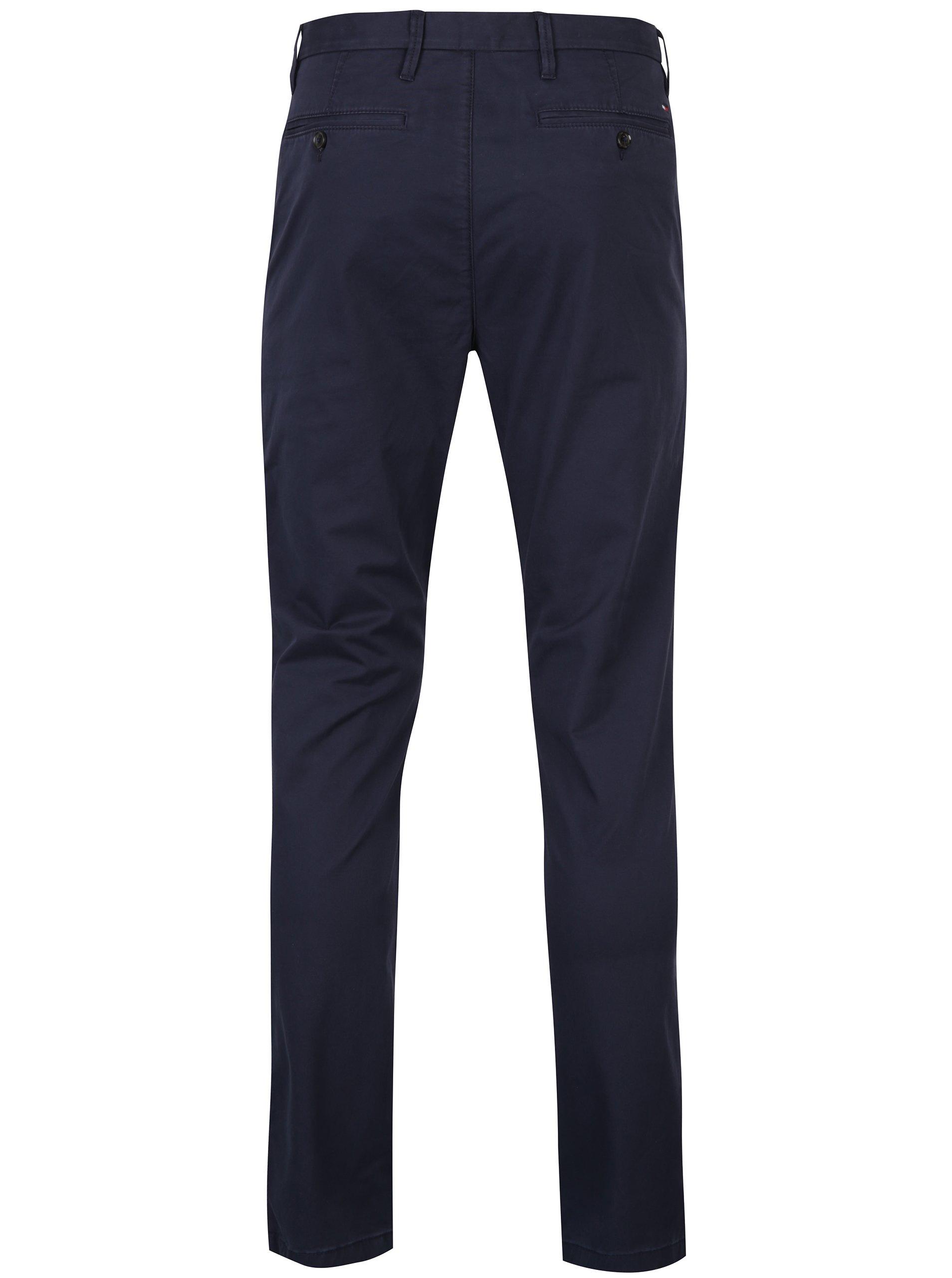 9b4e0ba1223 Tmavě modré pánské chino kalhoty Tommy Hilfiger Denton