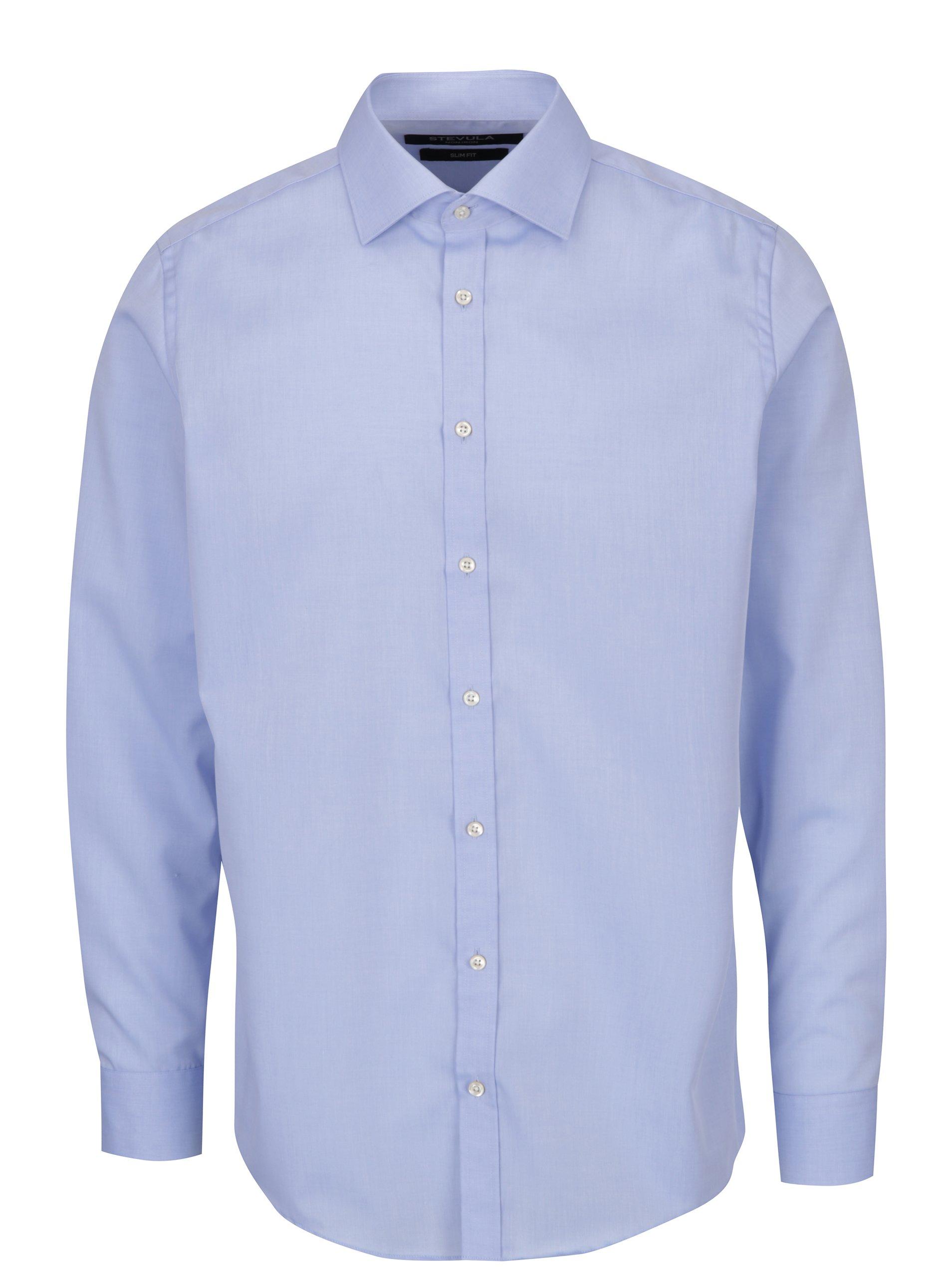 Světle modrá pánská slim fit košile STEVULA