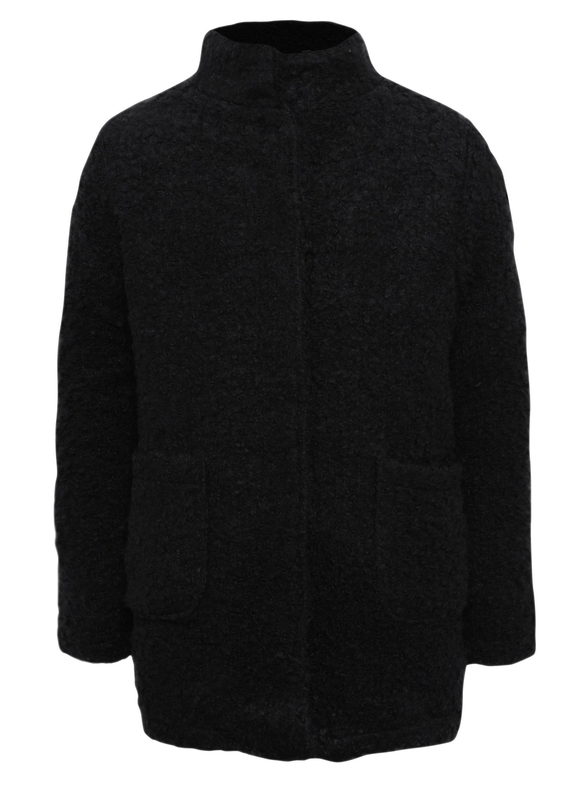 Černý holčičí kabát s kapsami Blue Seven