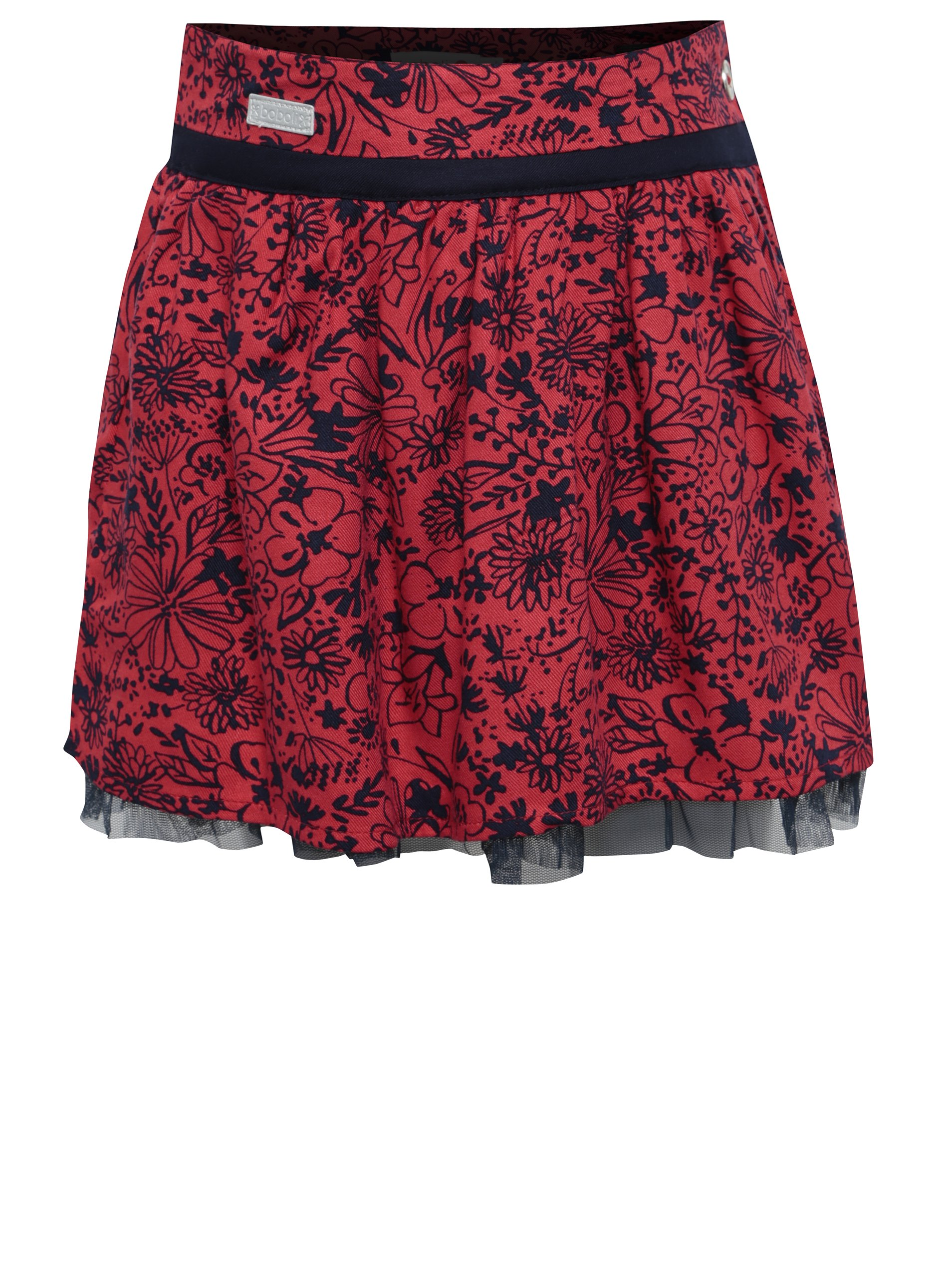 Červená květovaná sukně BÓBOLI