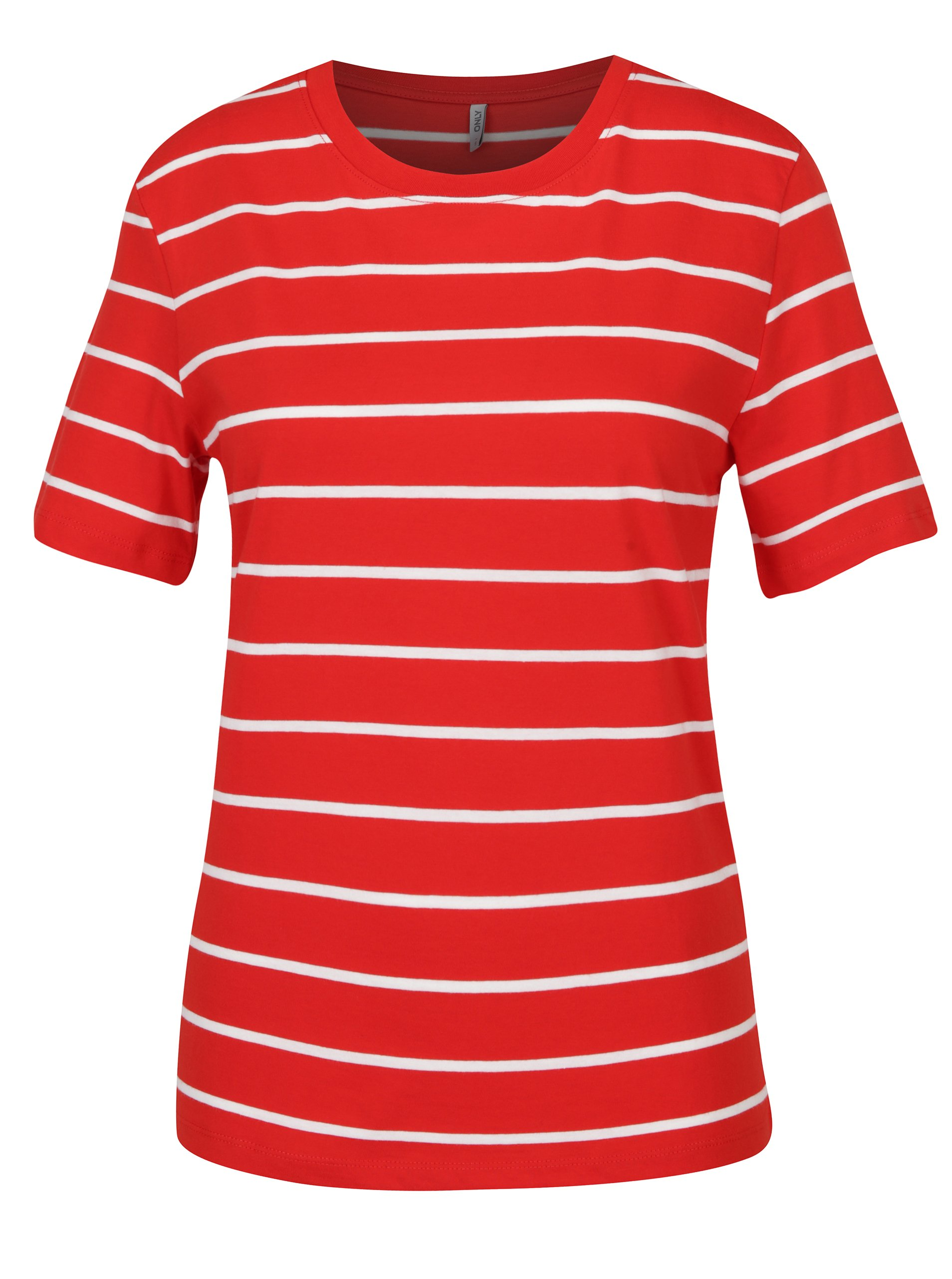 Bílo-červené pruhované tričko ONLY Great