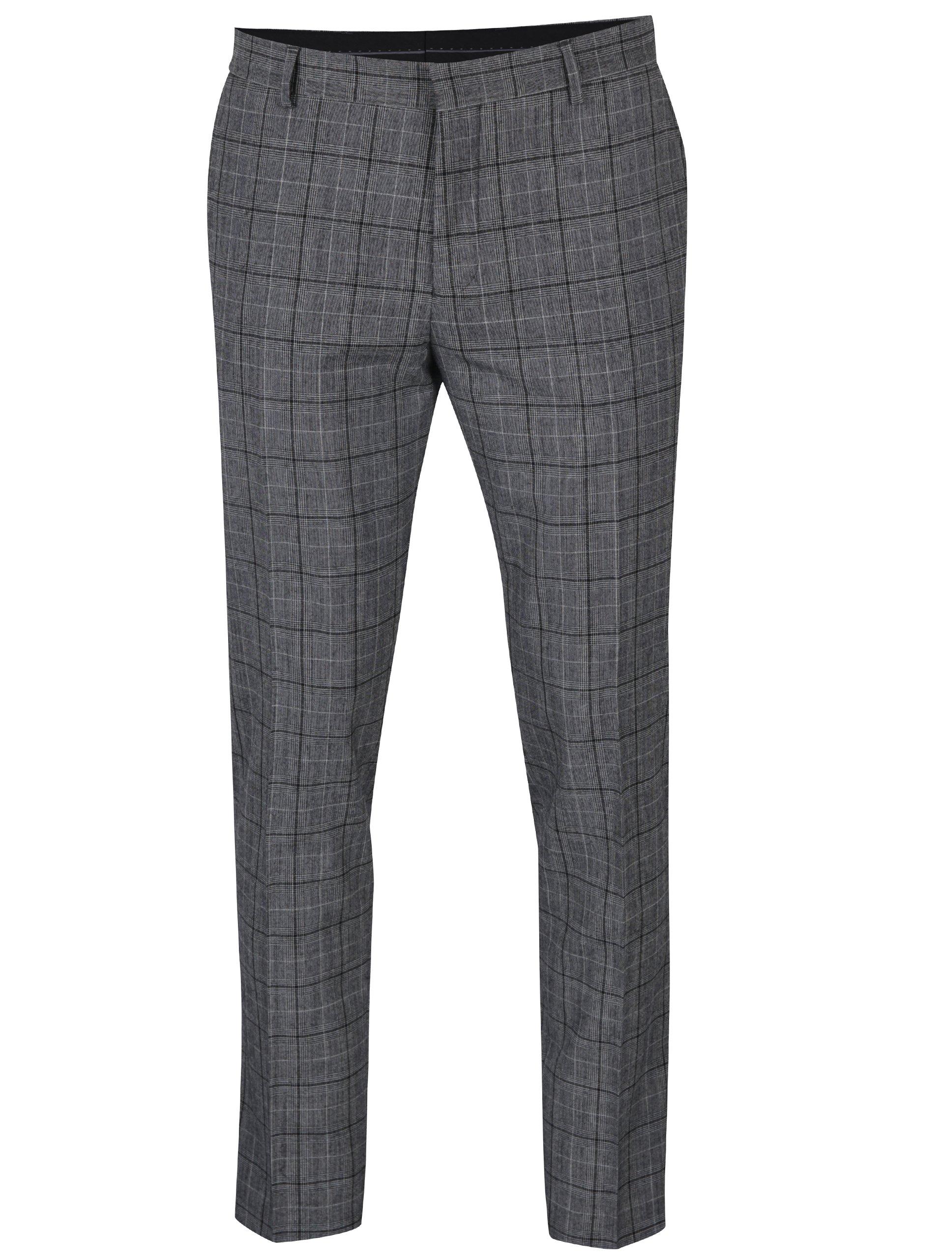 Šedé oblekové vlněné kalhoty Jack & Jones Premium Ranton