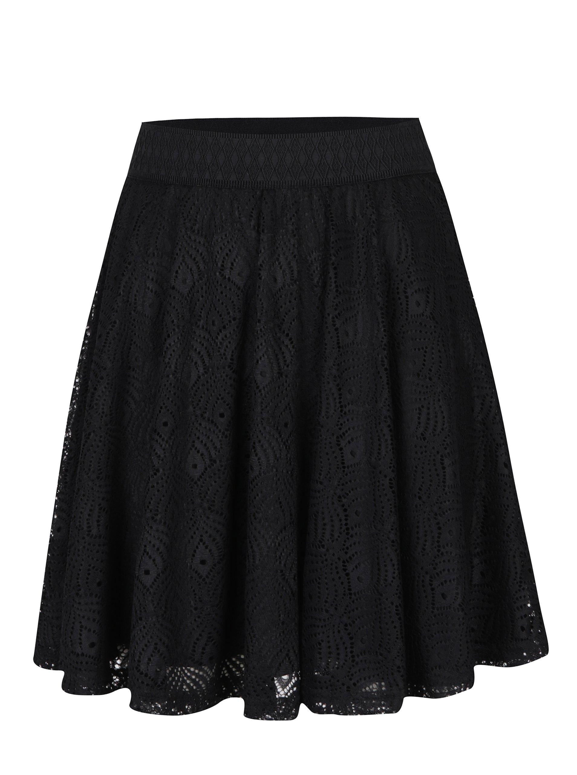 Čierna čipková tylová sukňa VERO MODA Majse