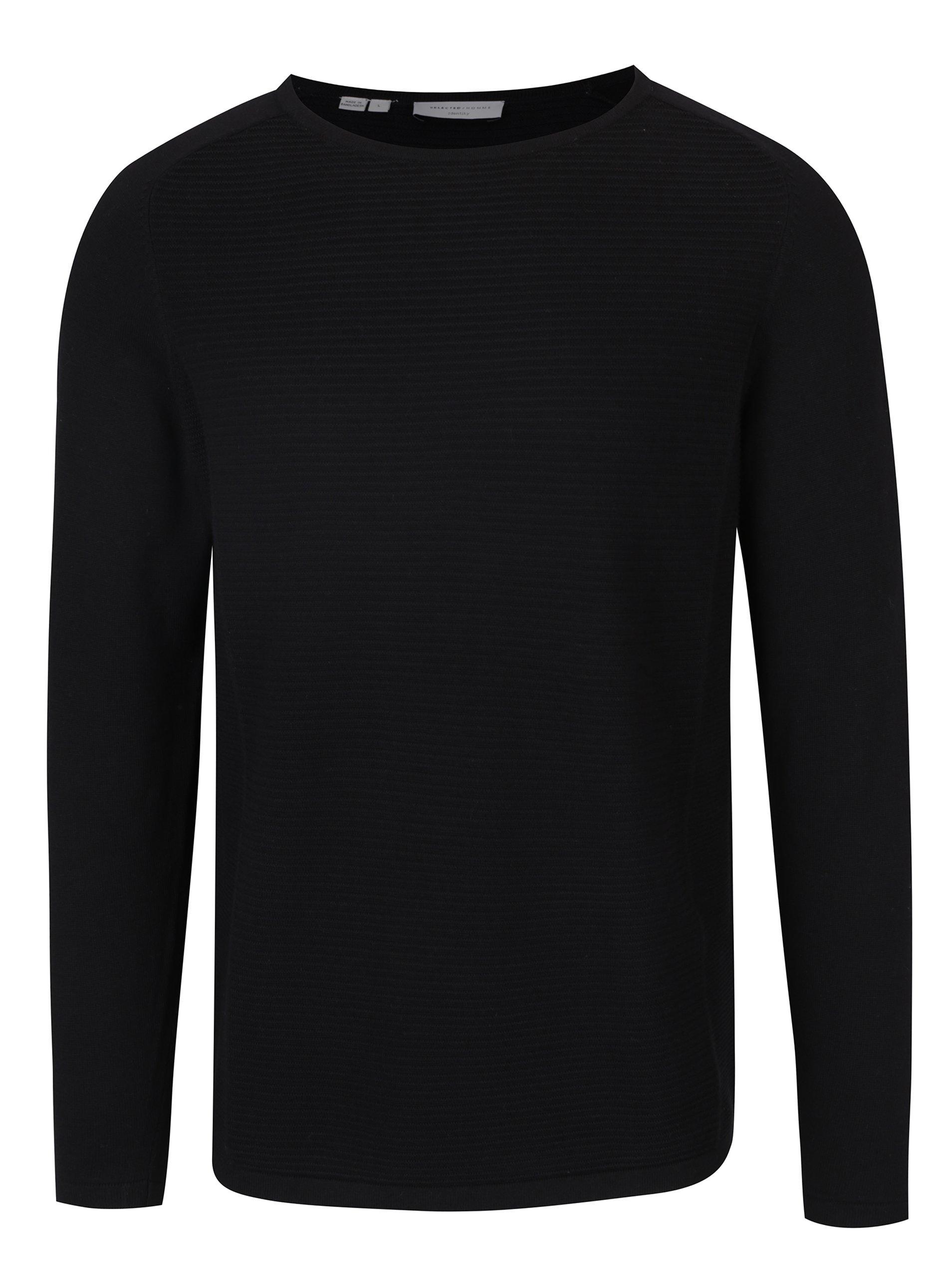 Černý svetr Selected Homme Bake