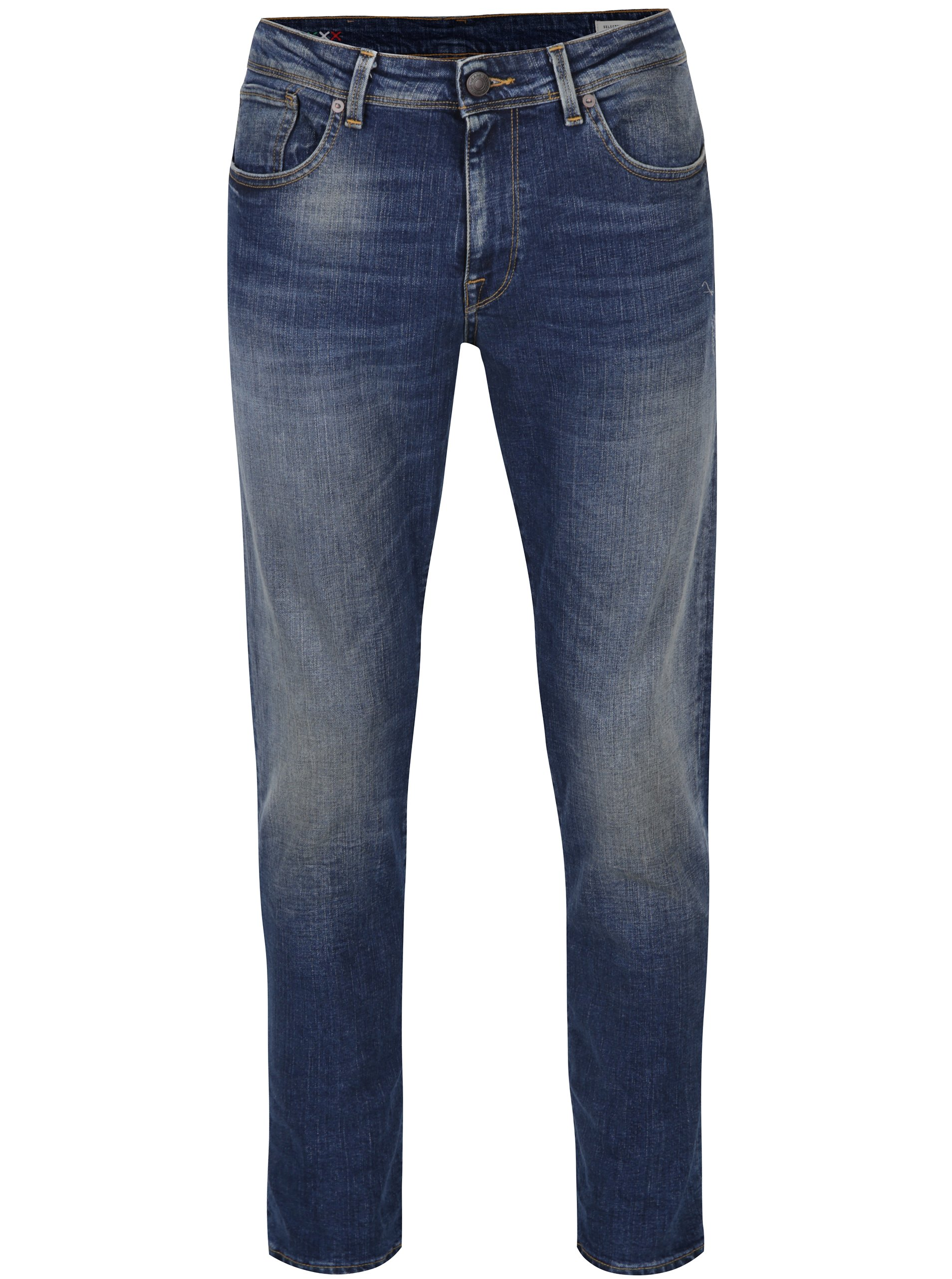 Modré džíny Selected Homme Scott