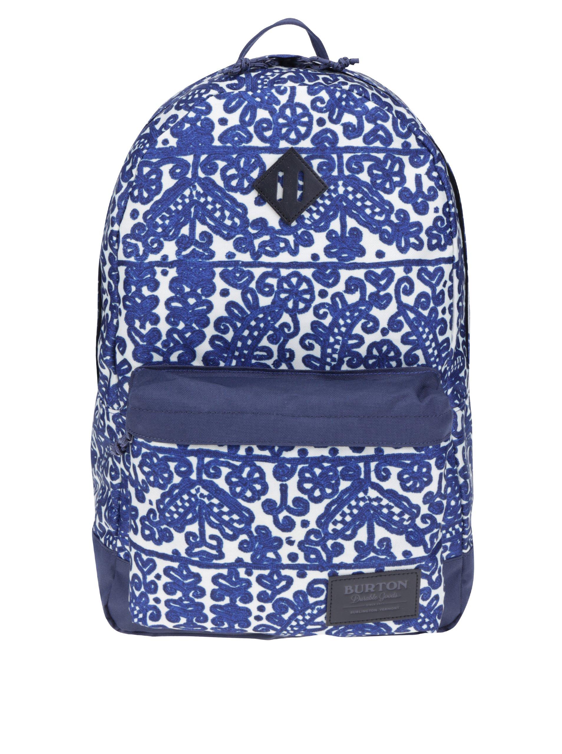 9bded7abc8 Krémovo-modrý dámský vzorovaný batoh Burton Kettle 20 l