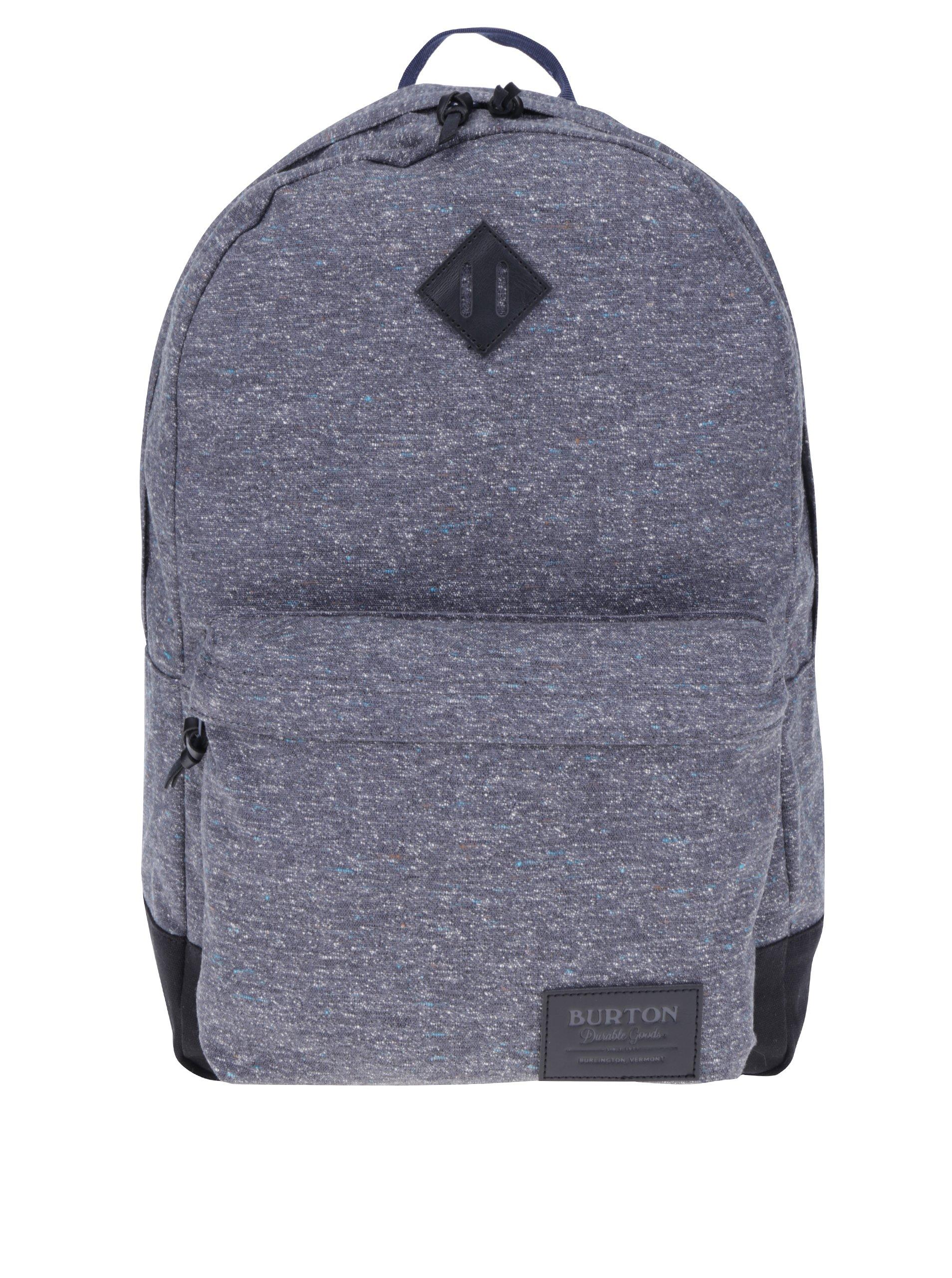 Tmavě šedý žíhaný batoh Burton Kettle 20 l