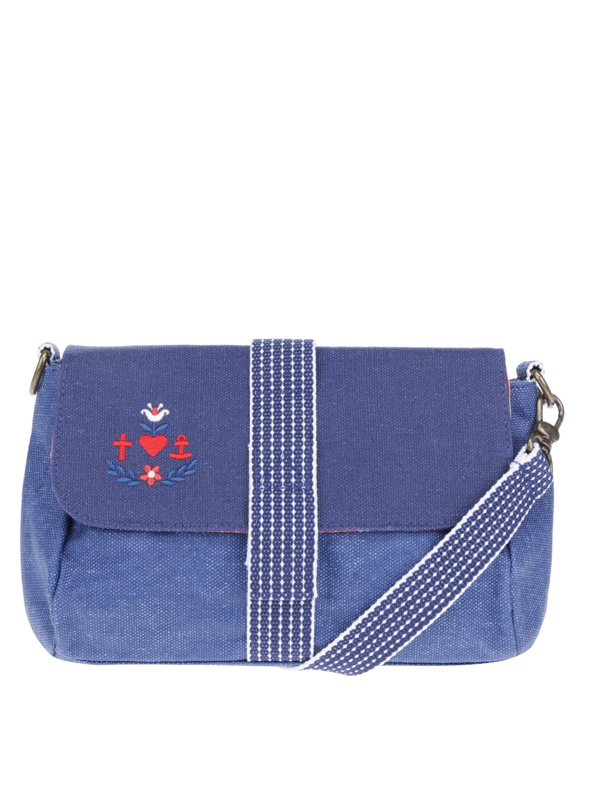 Modrá crossbody kabelka Blutsgeschwister