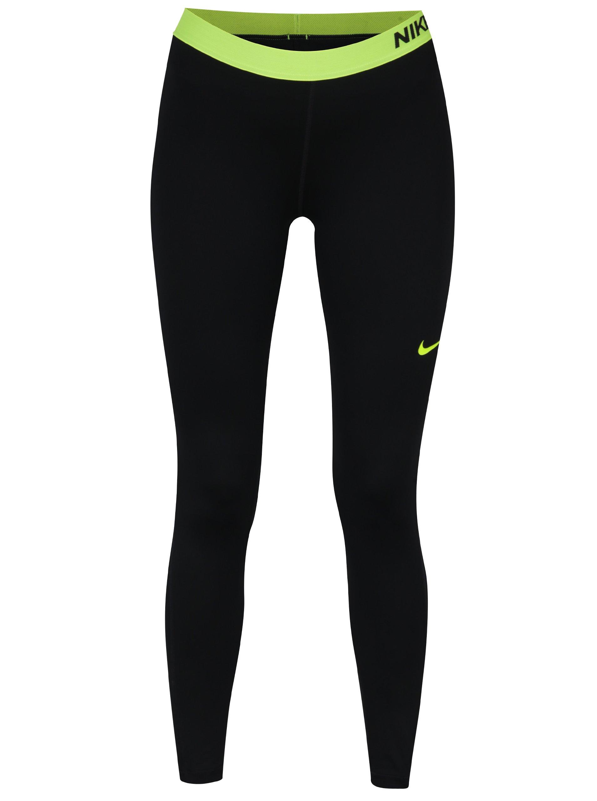 Zeleno-černé dámské funkční legíny Nike