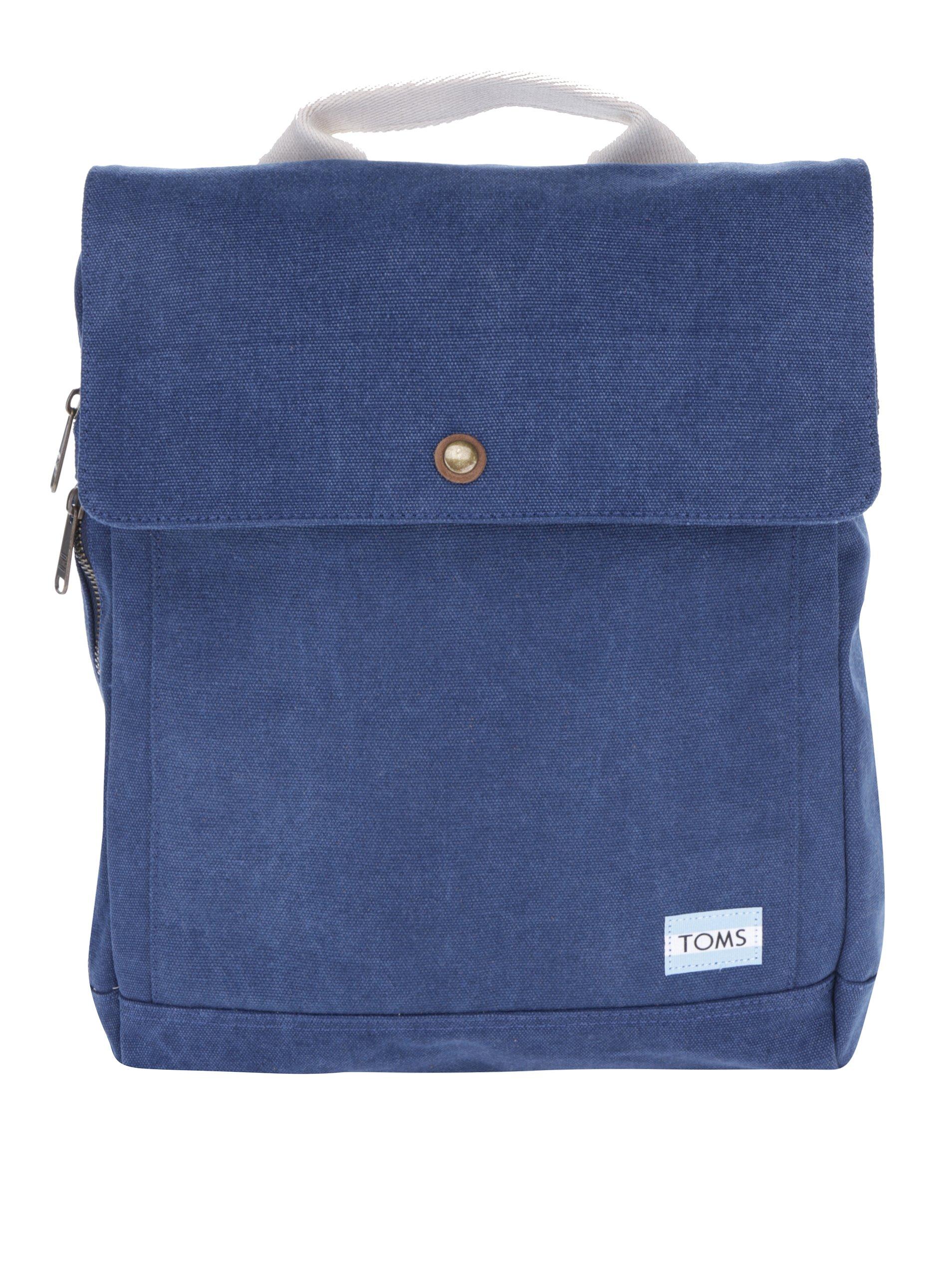 Tmavě modrý dámský batoh na notebook TOMS