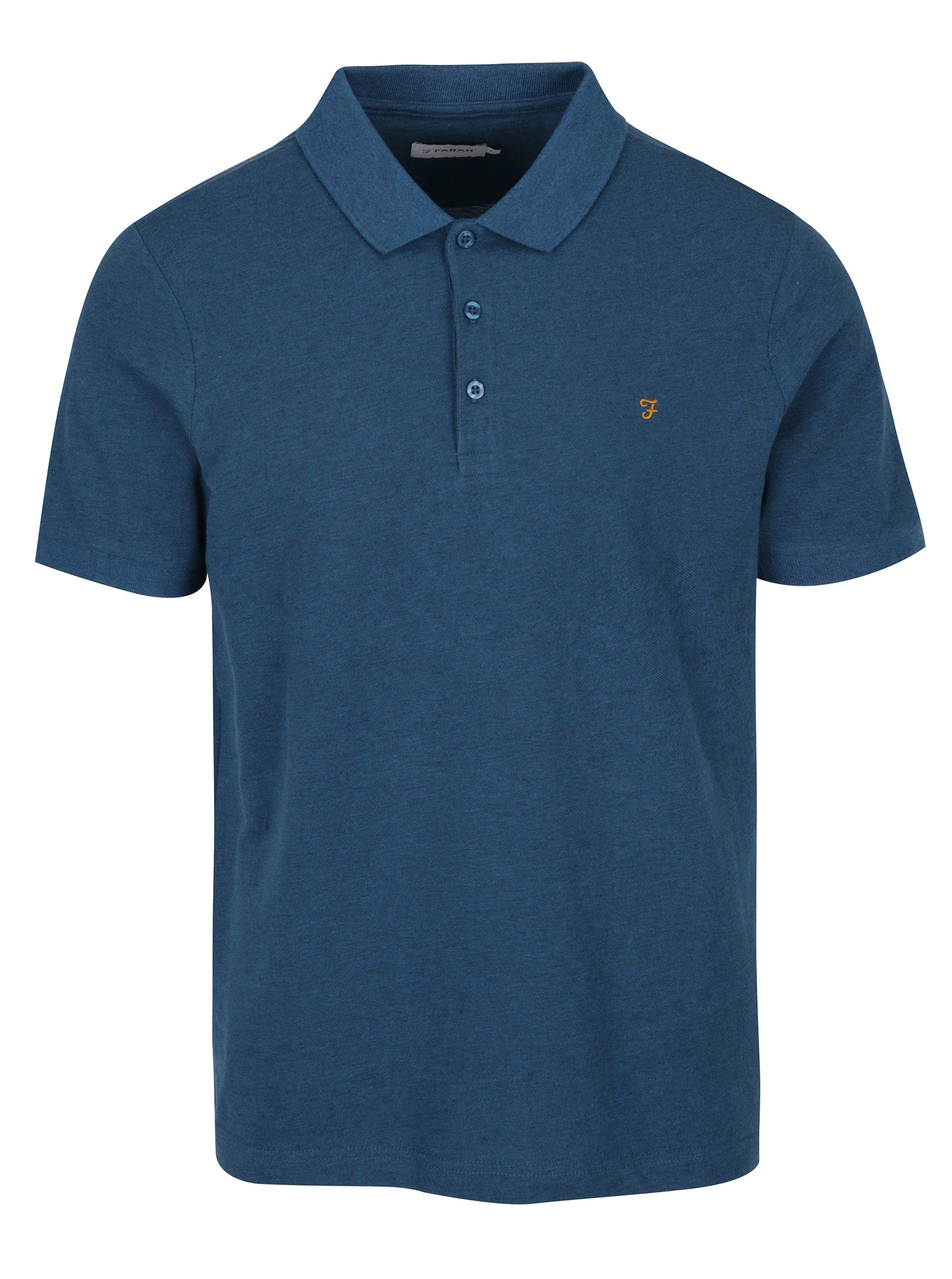 Modré polo tričko Farah Blaney
