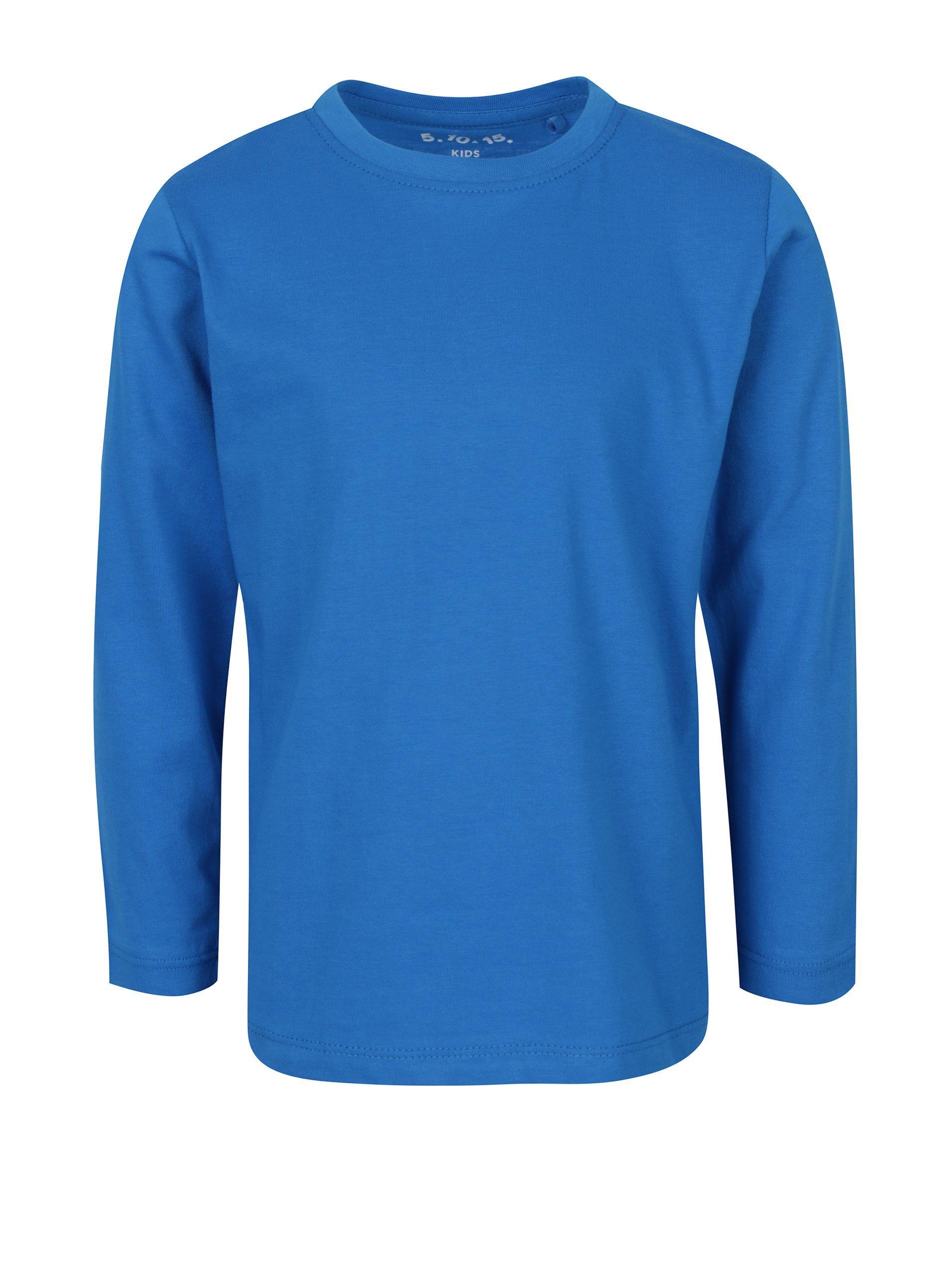 Modré klučičí tričko s dlouhým rukávem 5.10.15.