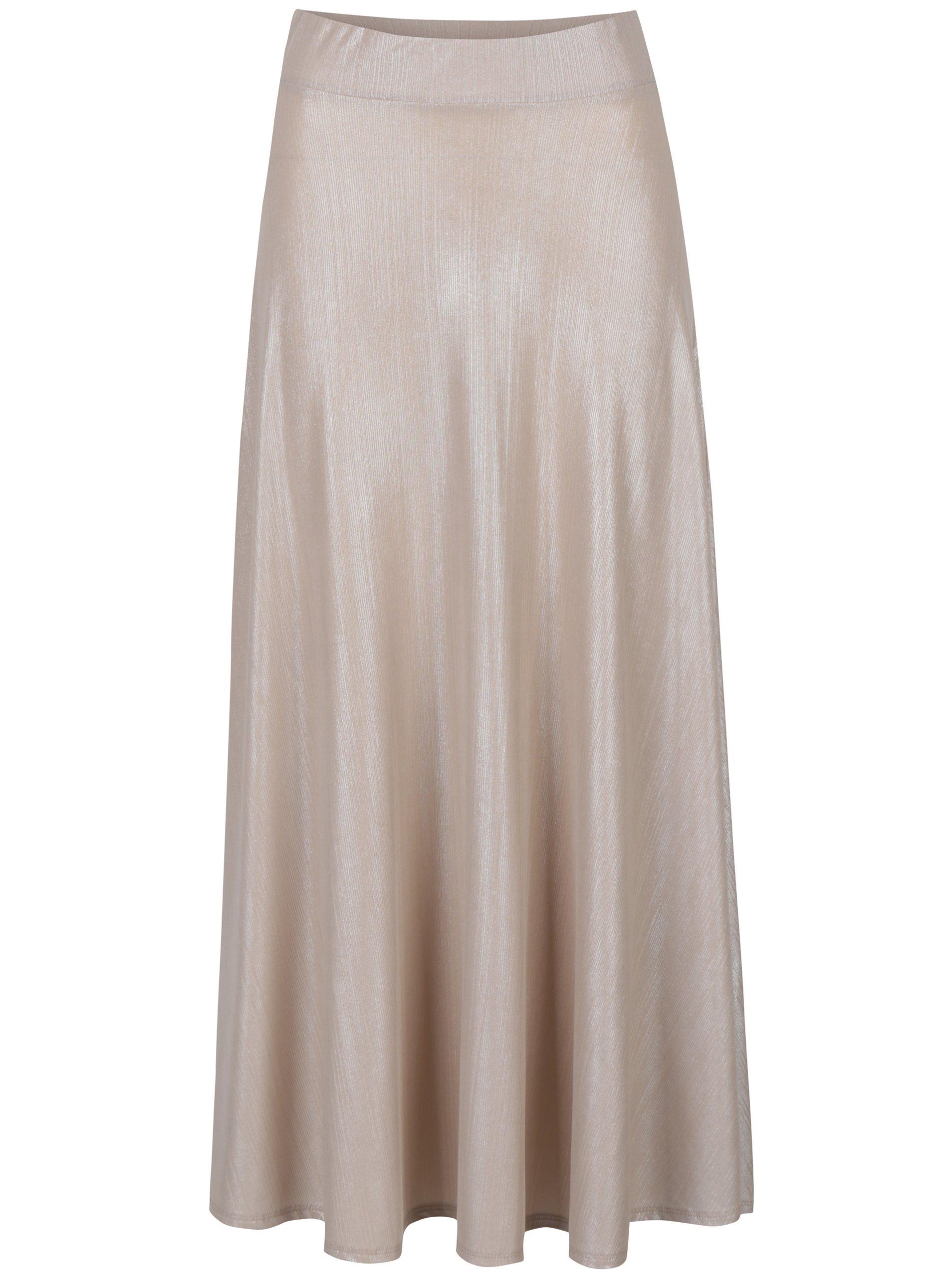 Dlouhá metalická sukně Dorothy Perkins Petite